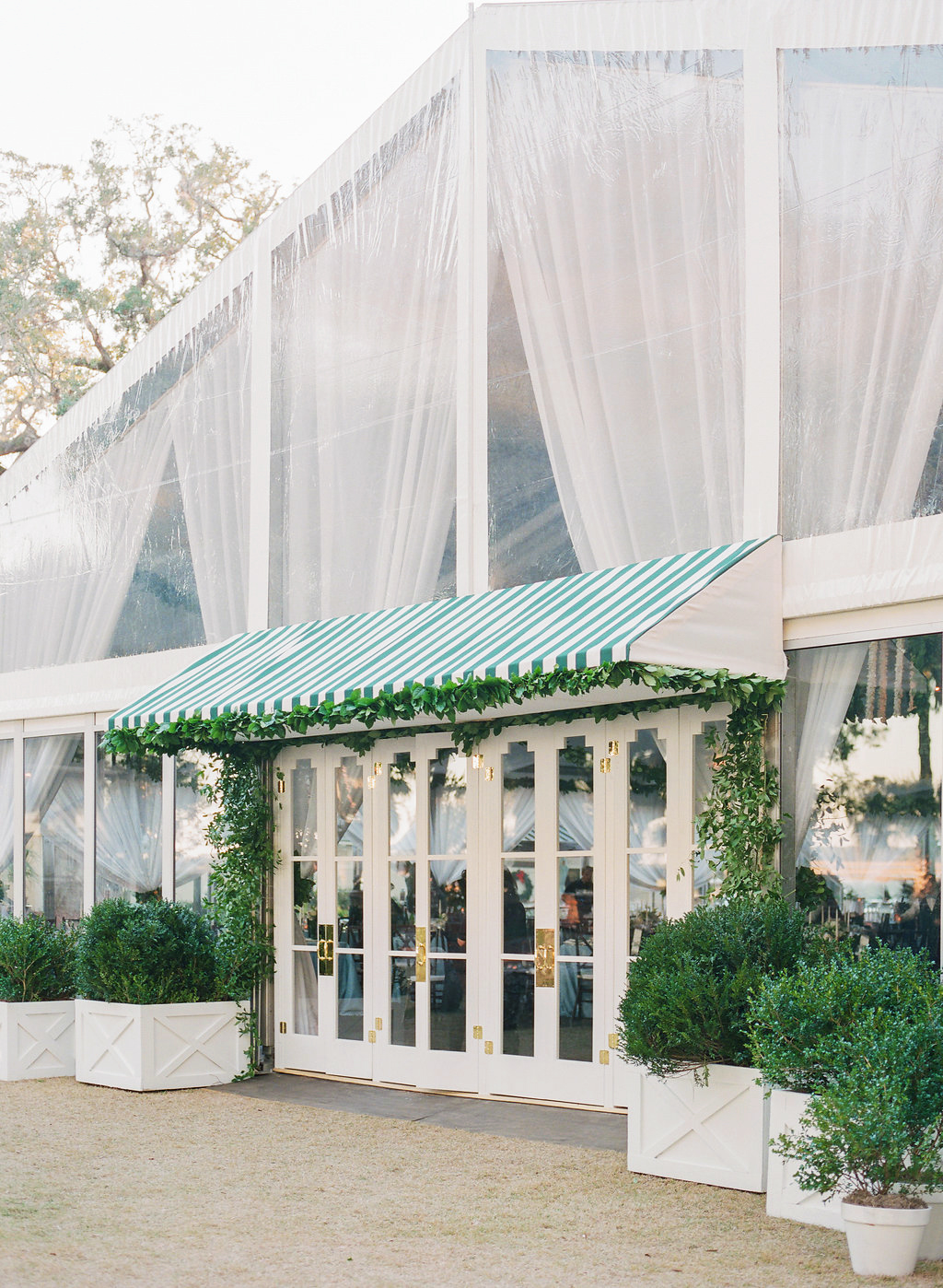 shelby barrett wedding tent entrance