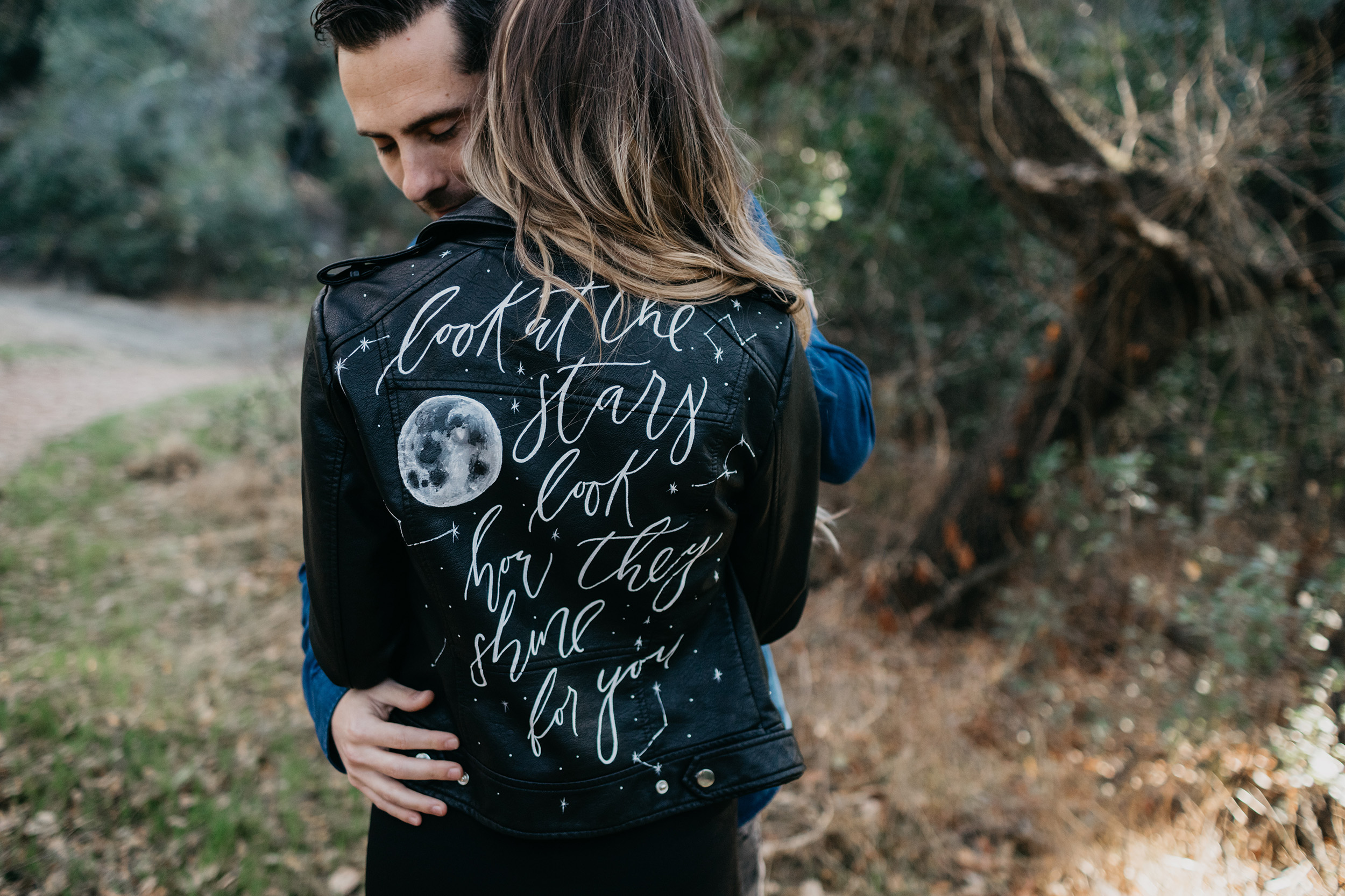 leather jacket with quote