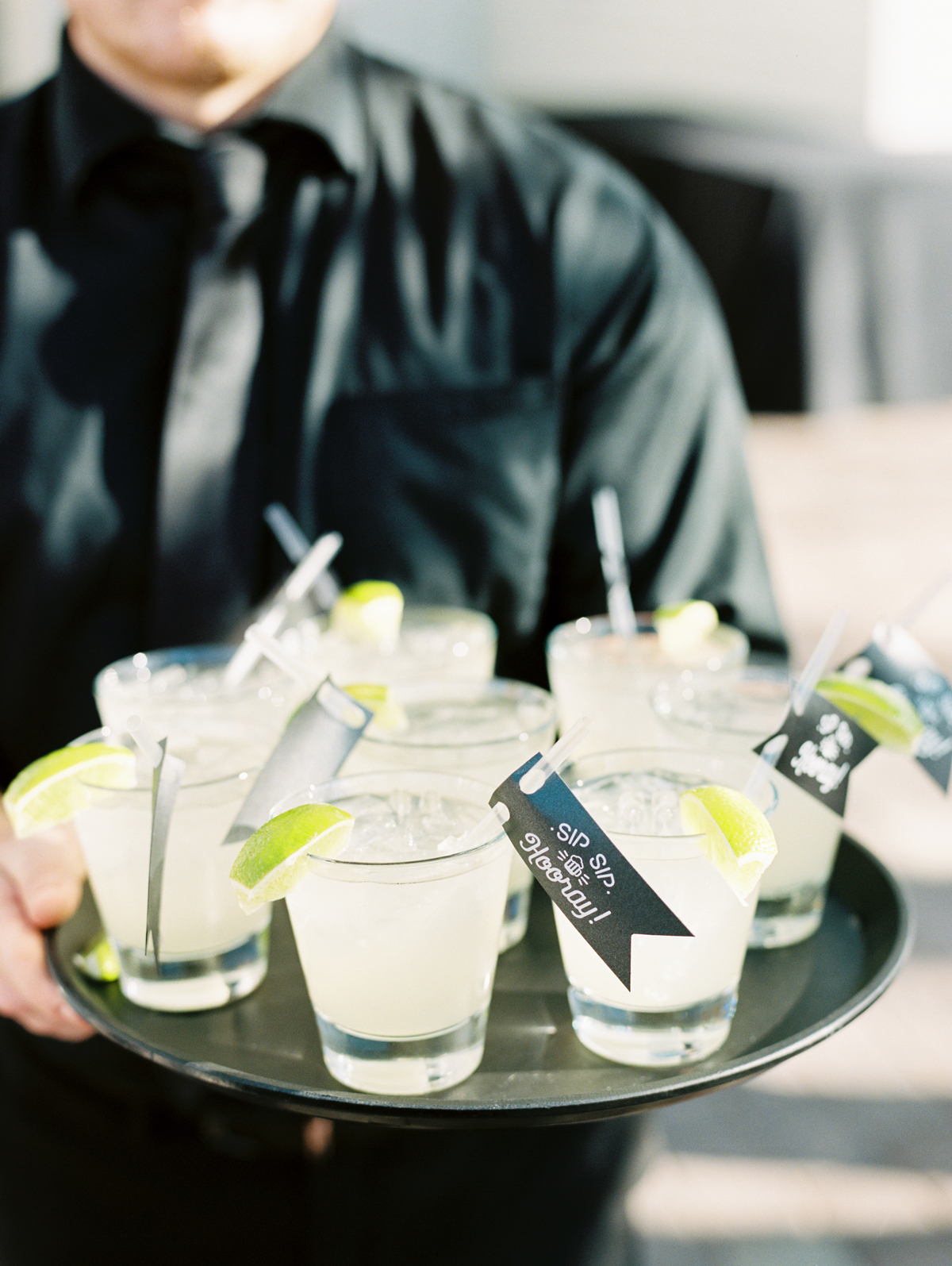 Moscow Mule cocktails on serving tray
