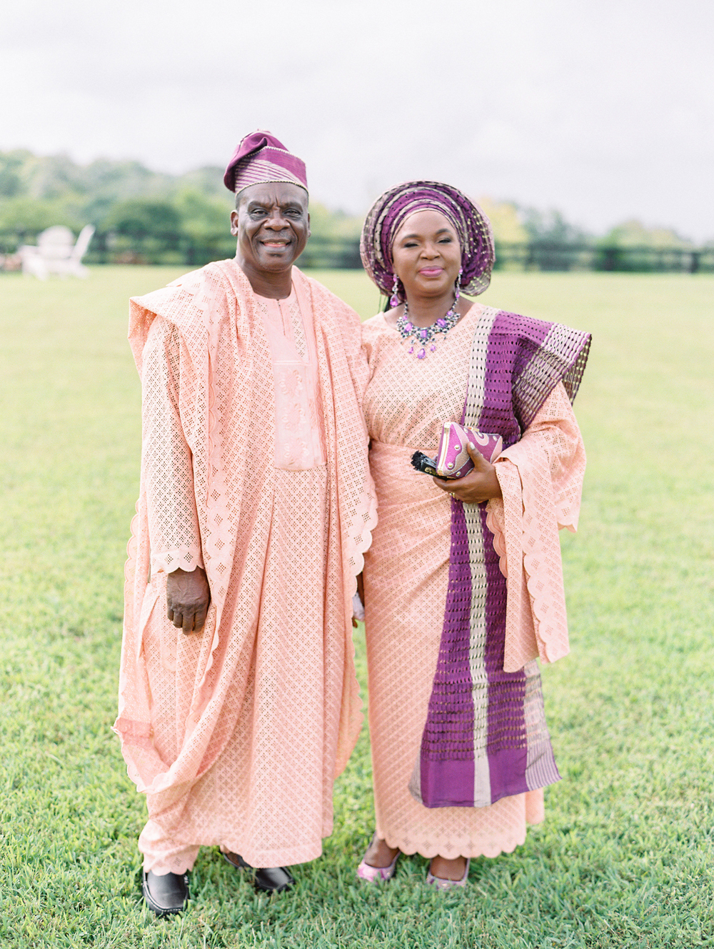 parents of the bride wearing traditional nigerian dressings