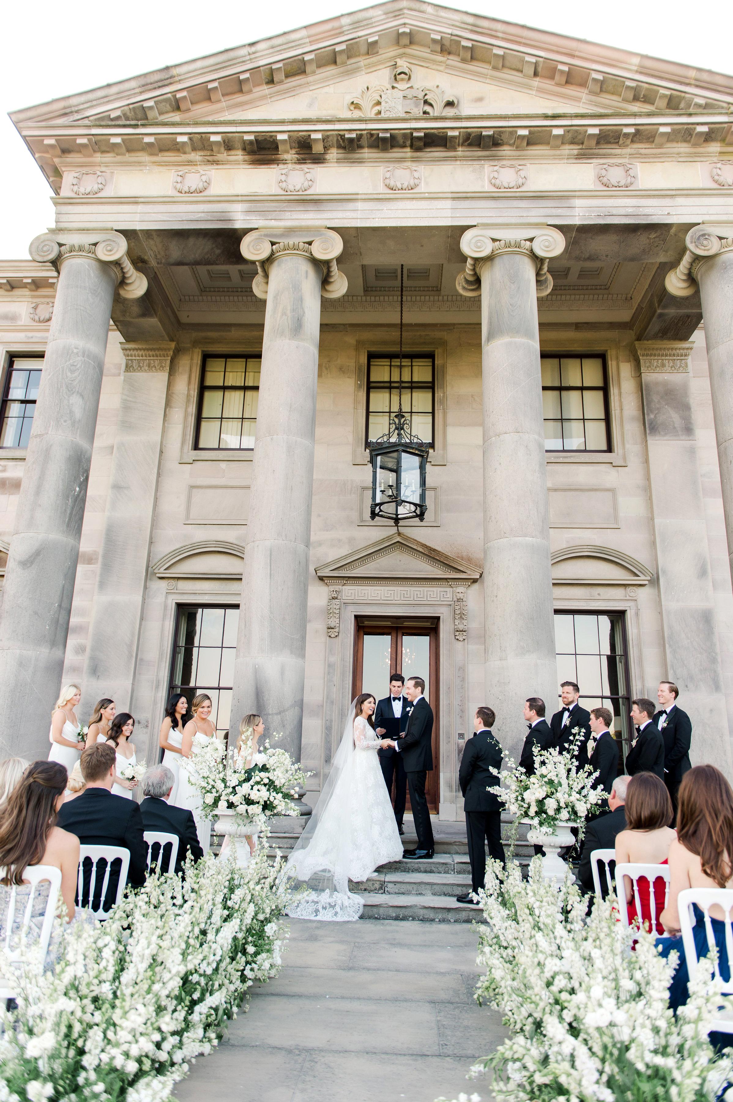 ramsey charles ireland wedding ceremony bride groom and guests
