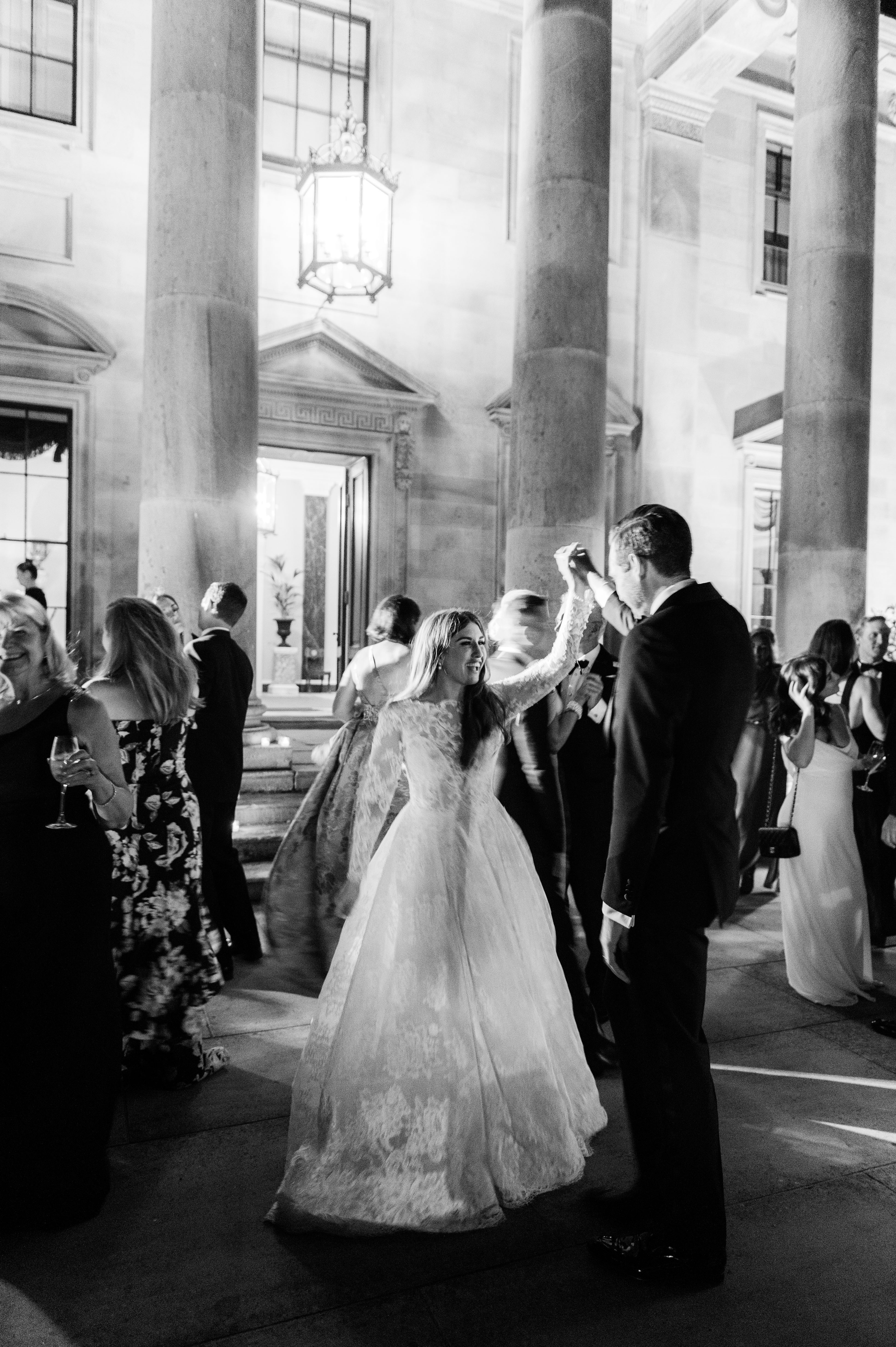 ramsey charles ireland wedding couple dancing black and white