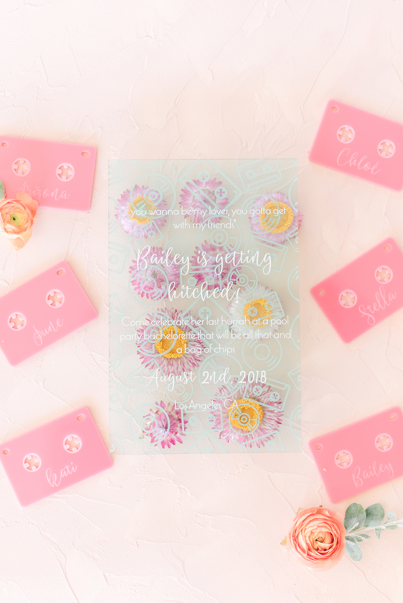 Pressed Flower Invite Cards