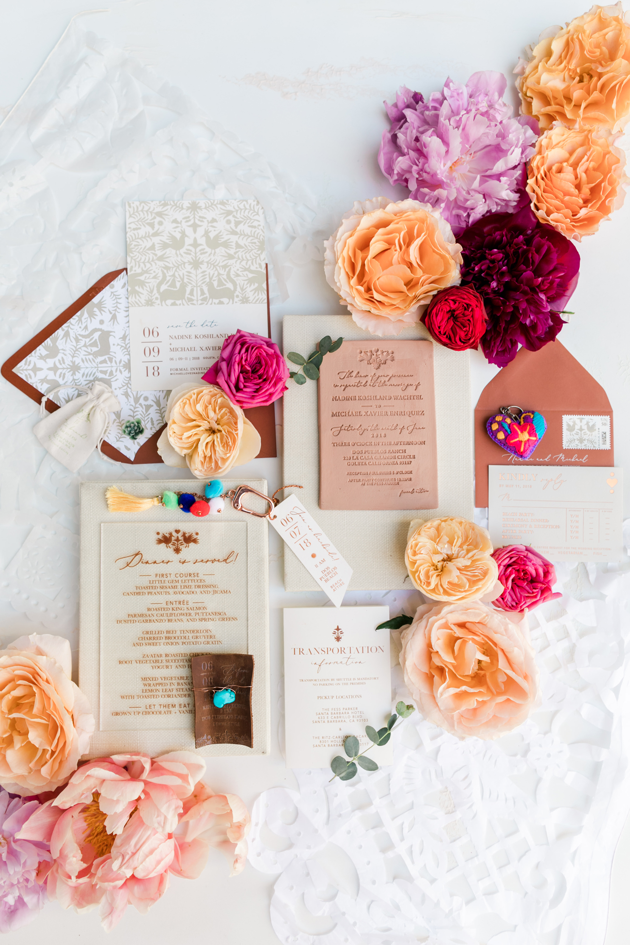 multi-designed wedding stationary