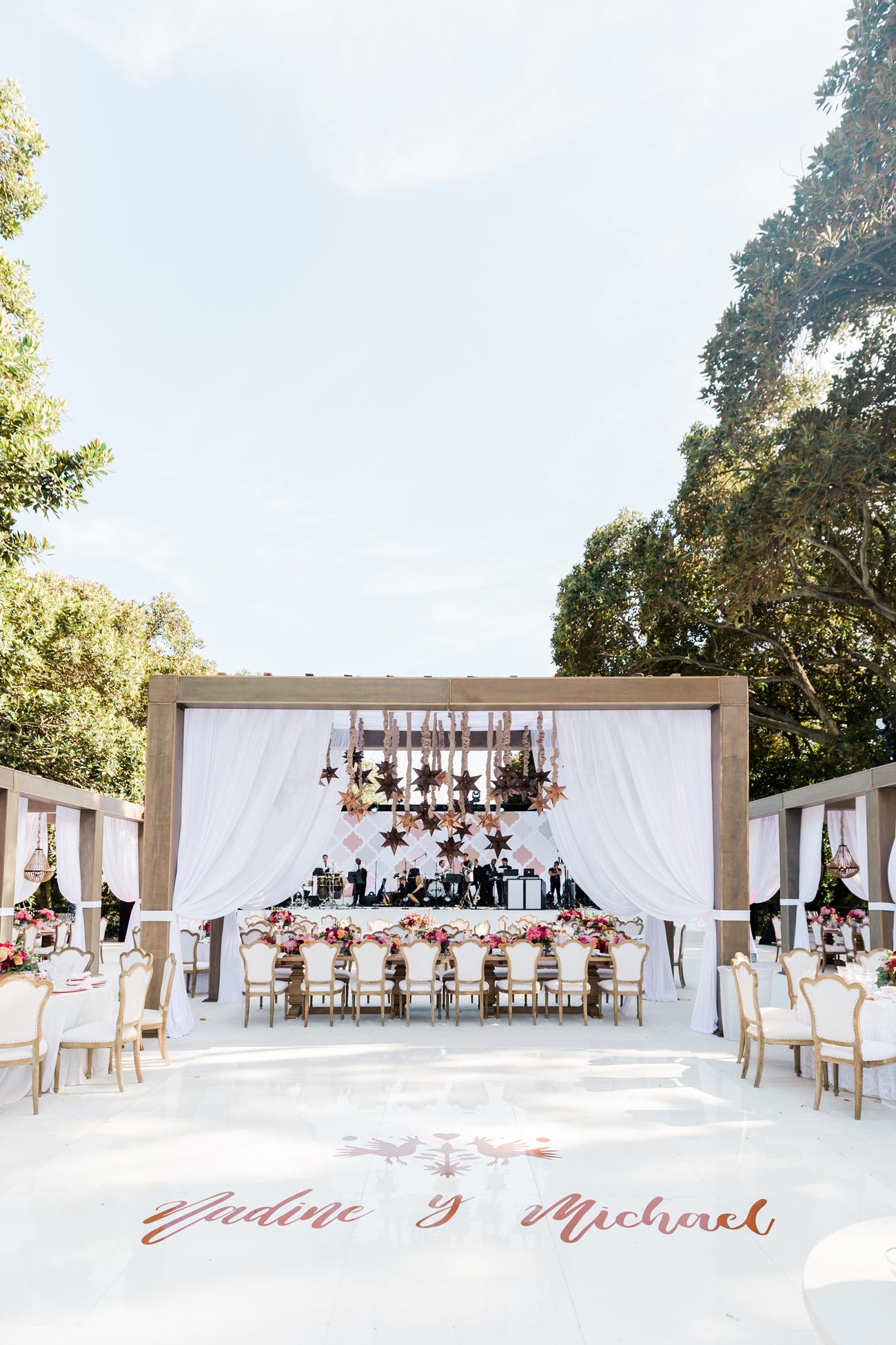 custom built outdoor reception room