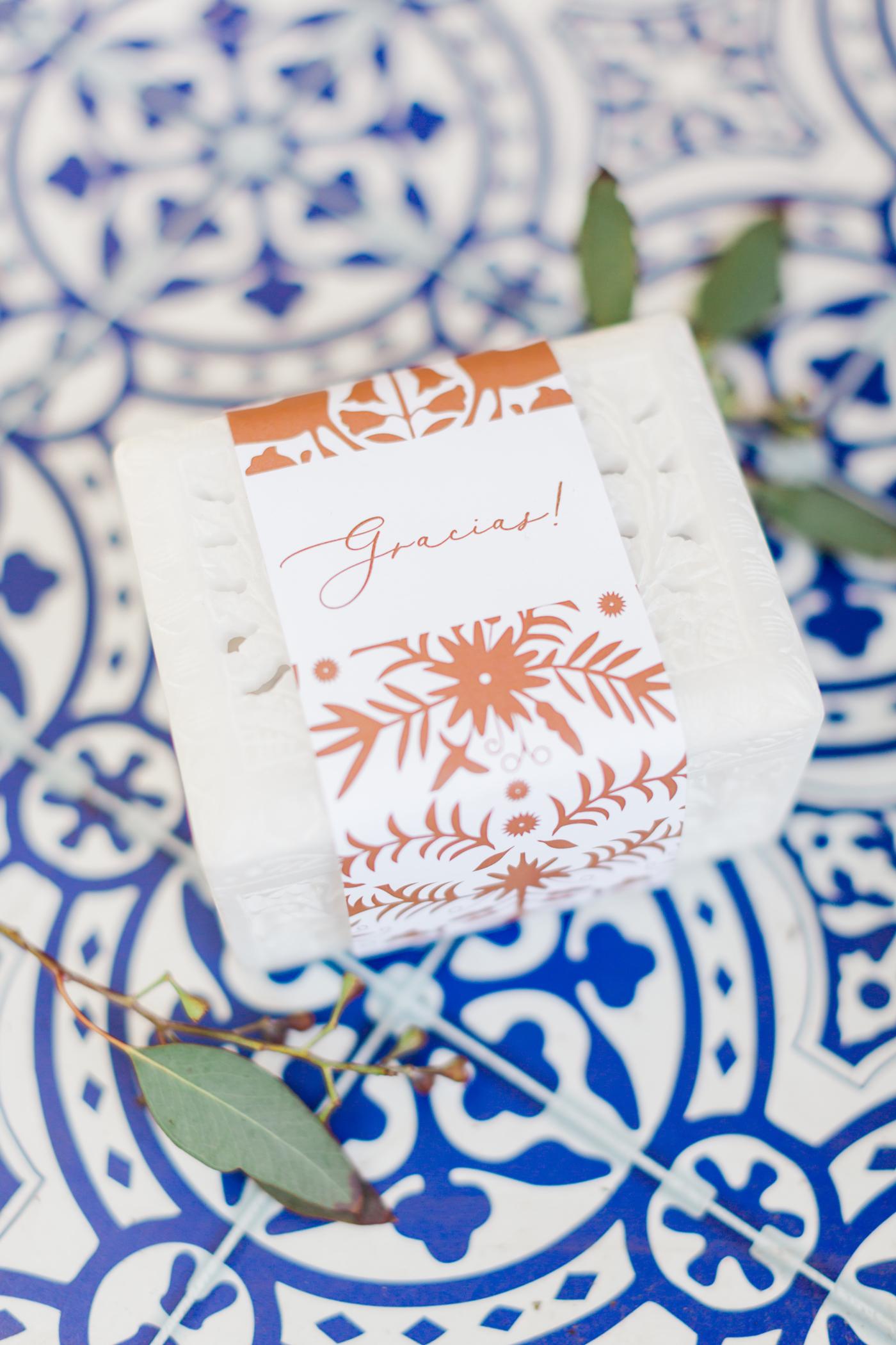 white alabaster wedding favor box