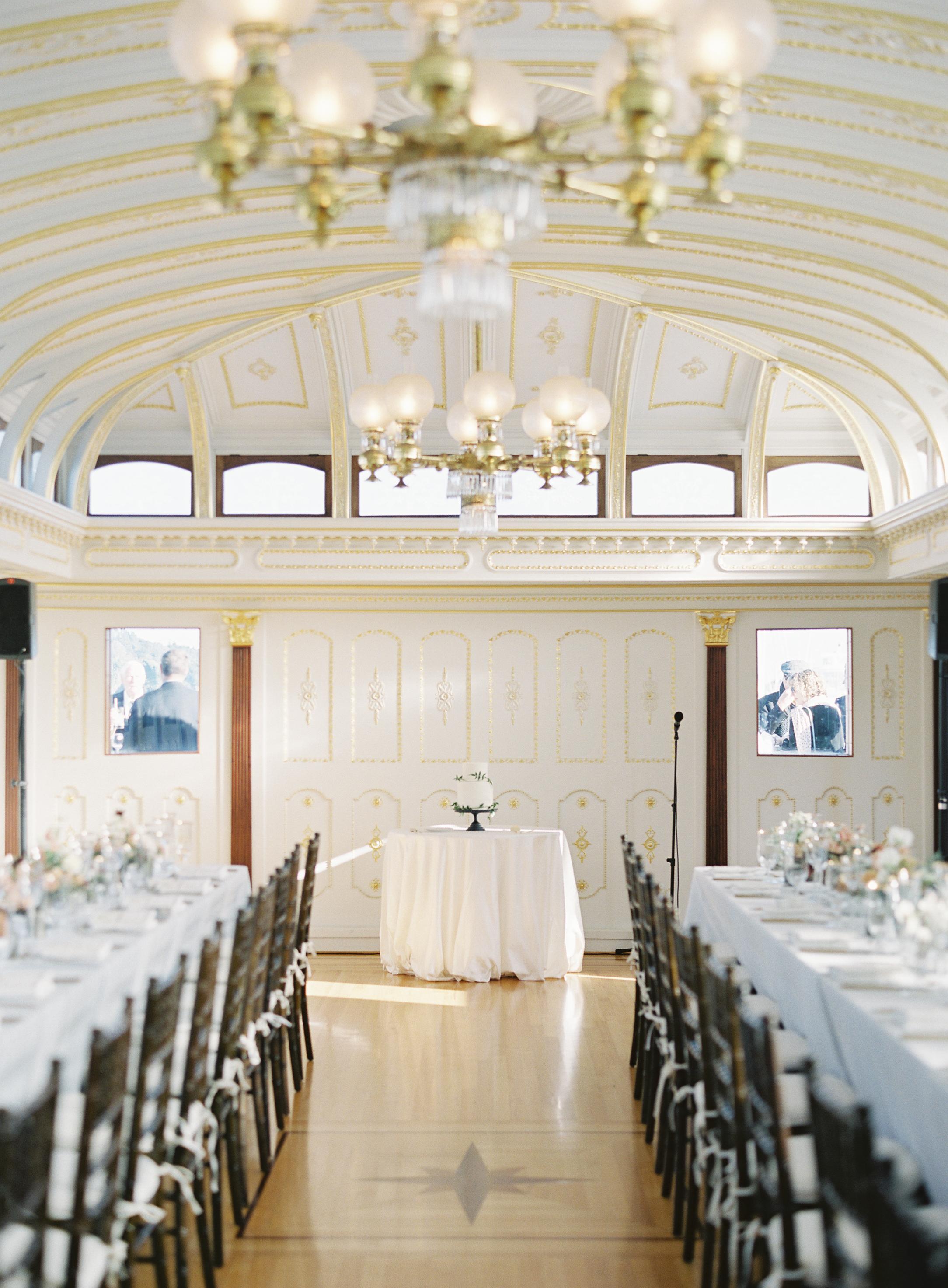 olivia brett wedding reception set up