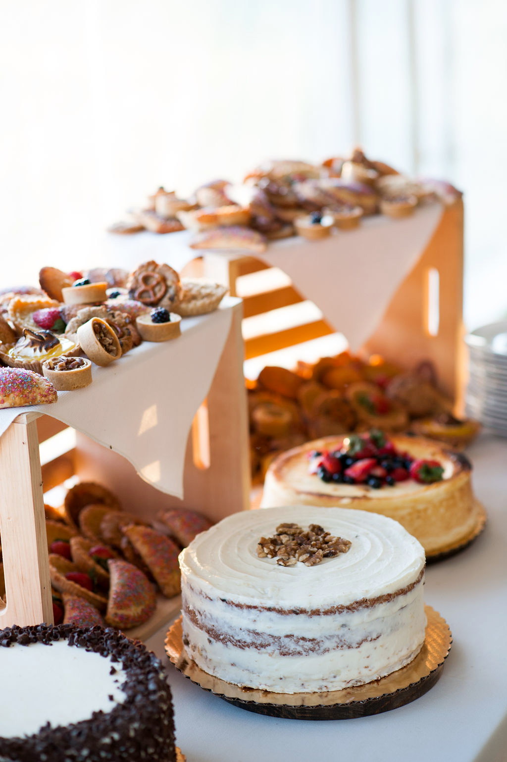 various cakes, pies, and pastry desserts