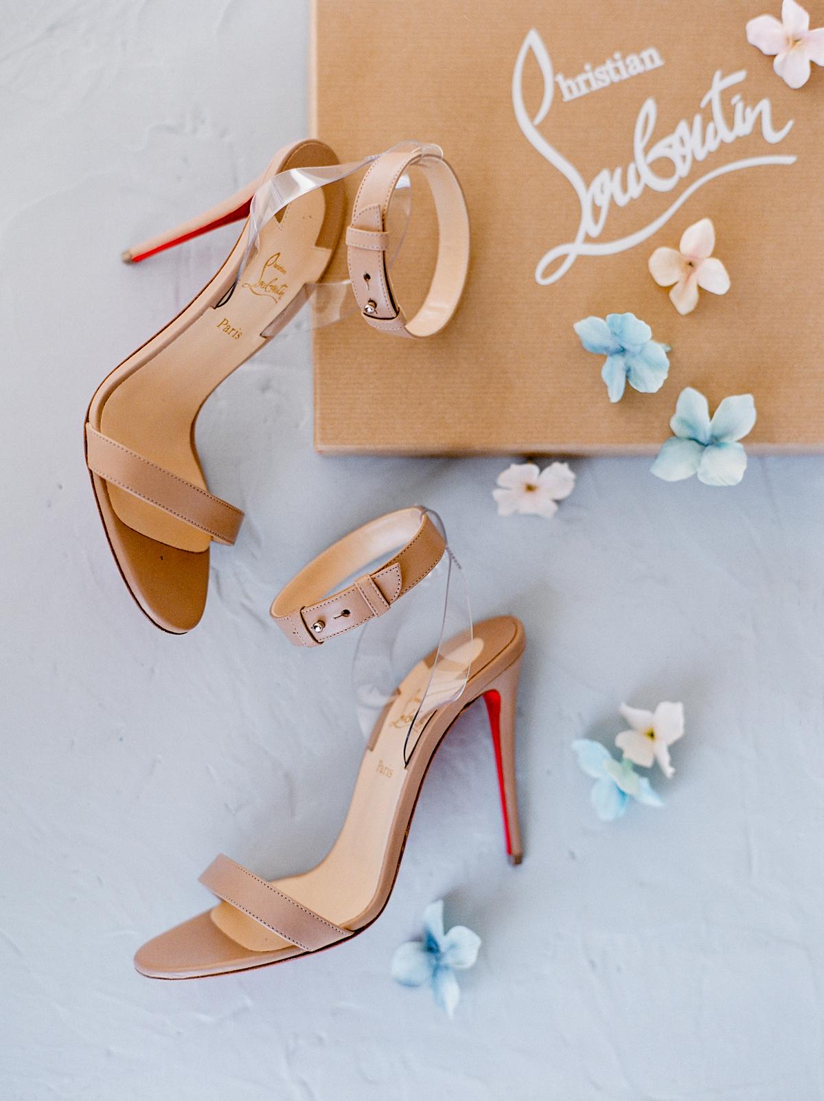 wedding shoes leather high heels