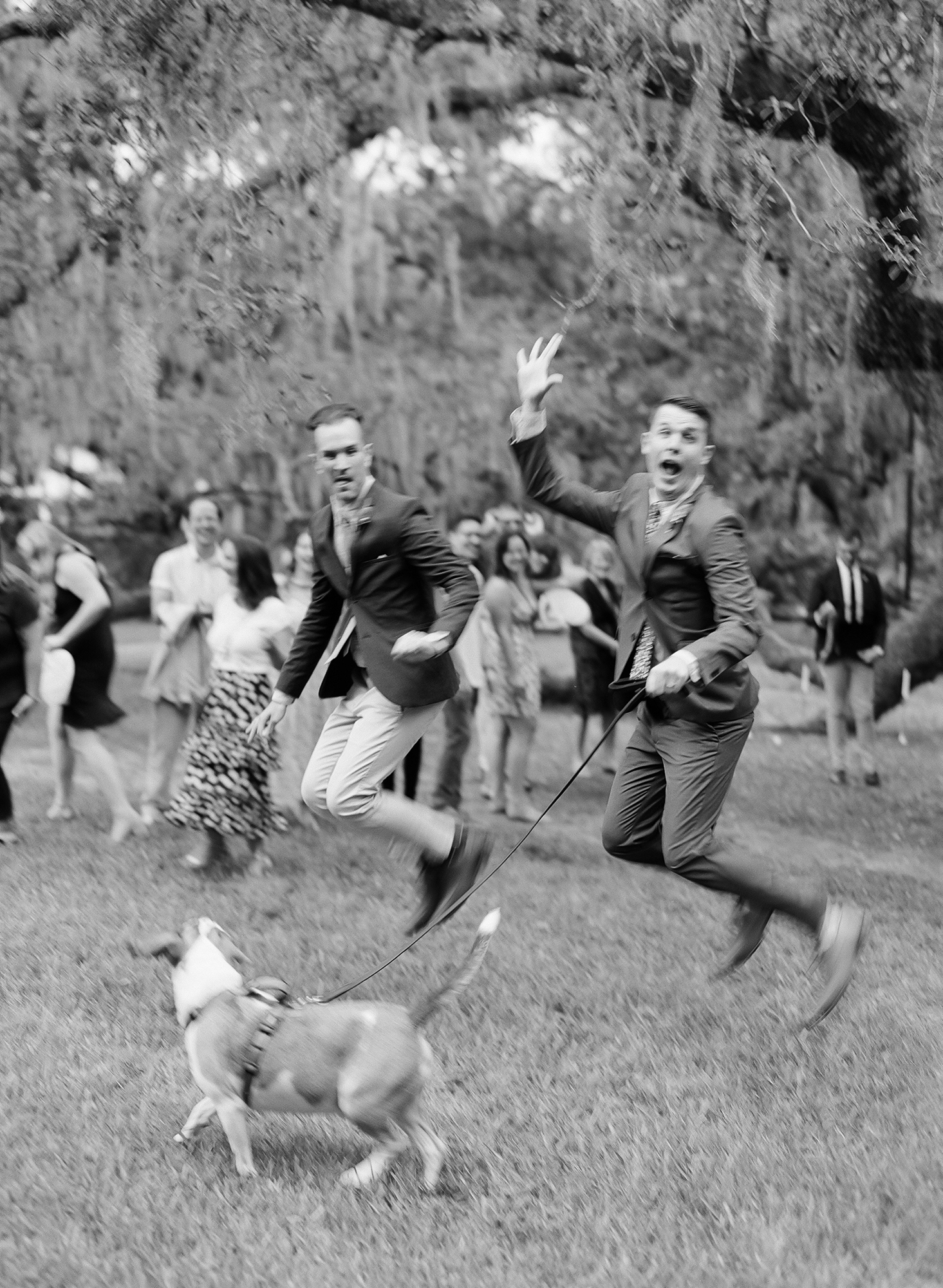 garrett sean wedding couple jumping
