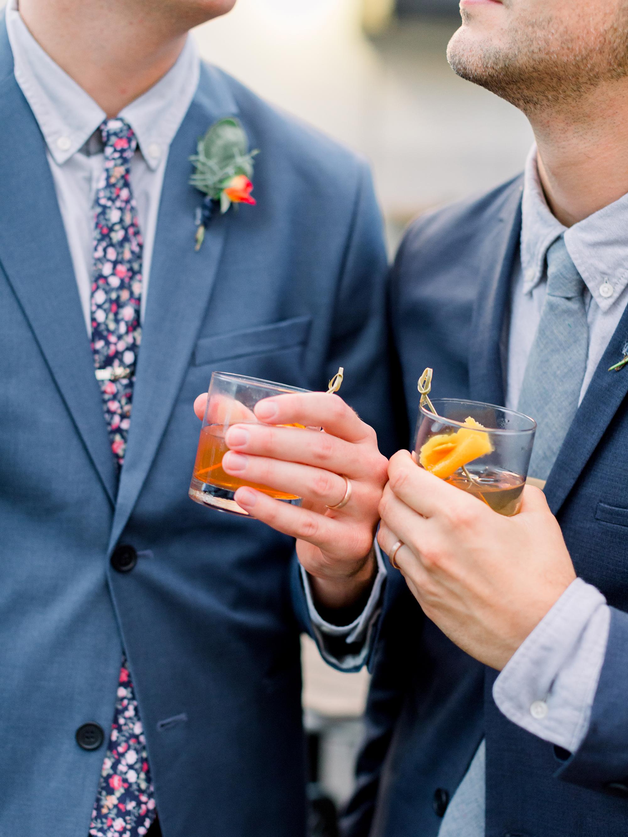 garrett and sean wedding cocktails