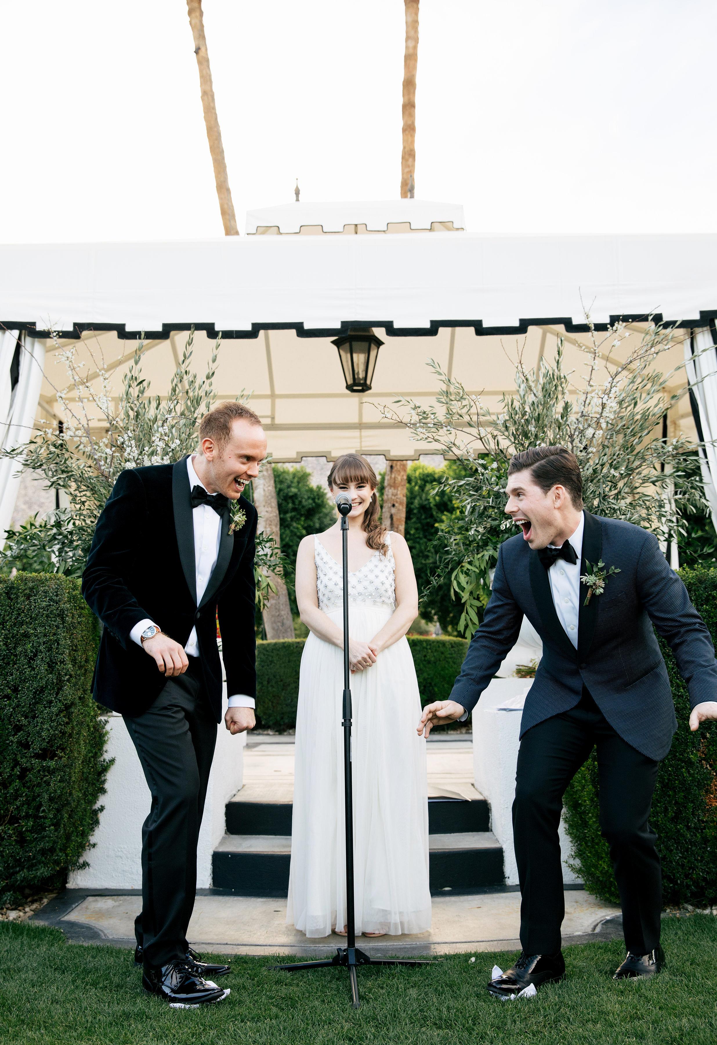 michael thomas wedding ceremony glass