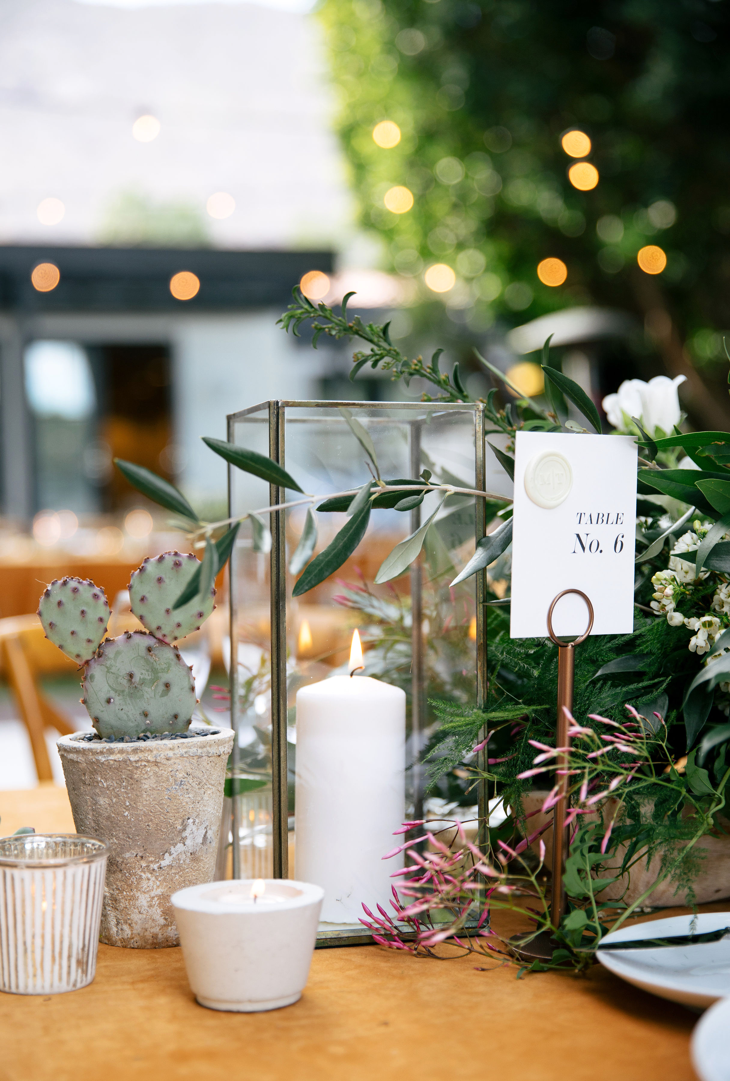 michael thomas wedding centerpiece table number tablescape