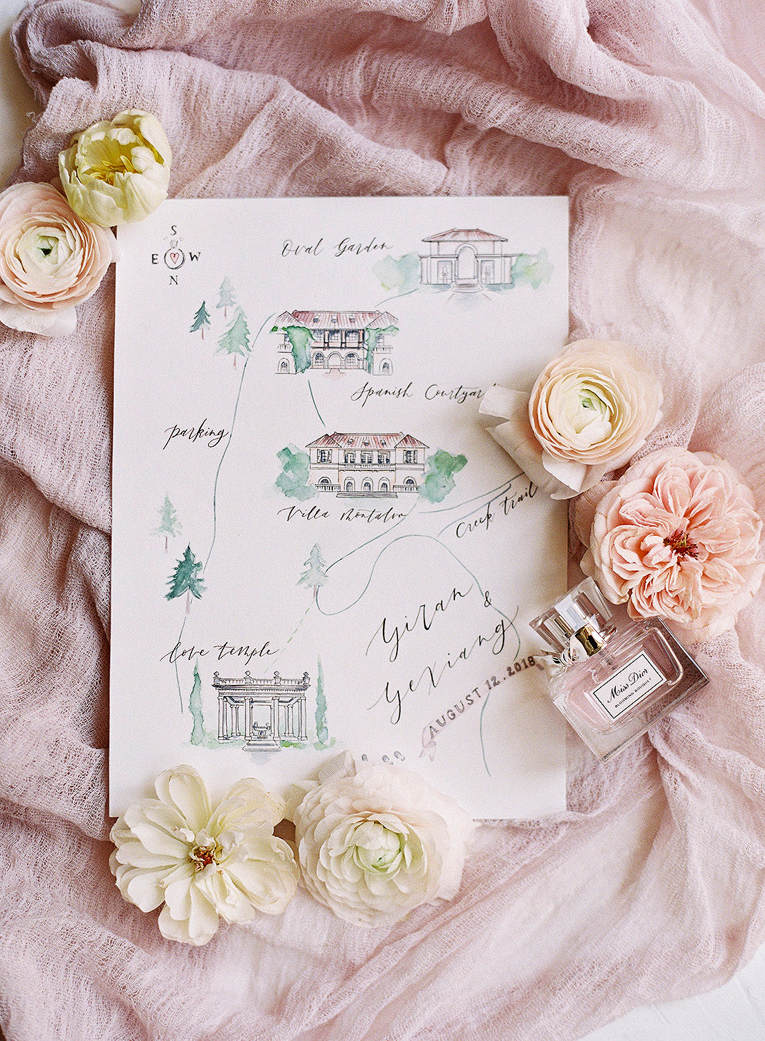 Fanciful Wedding Map