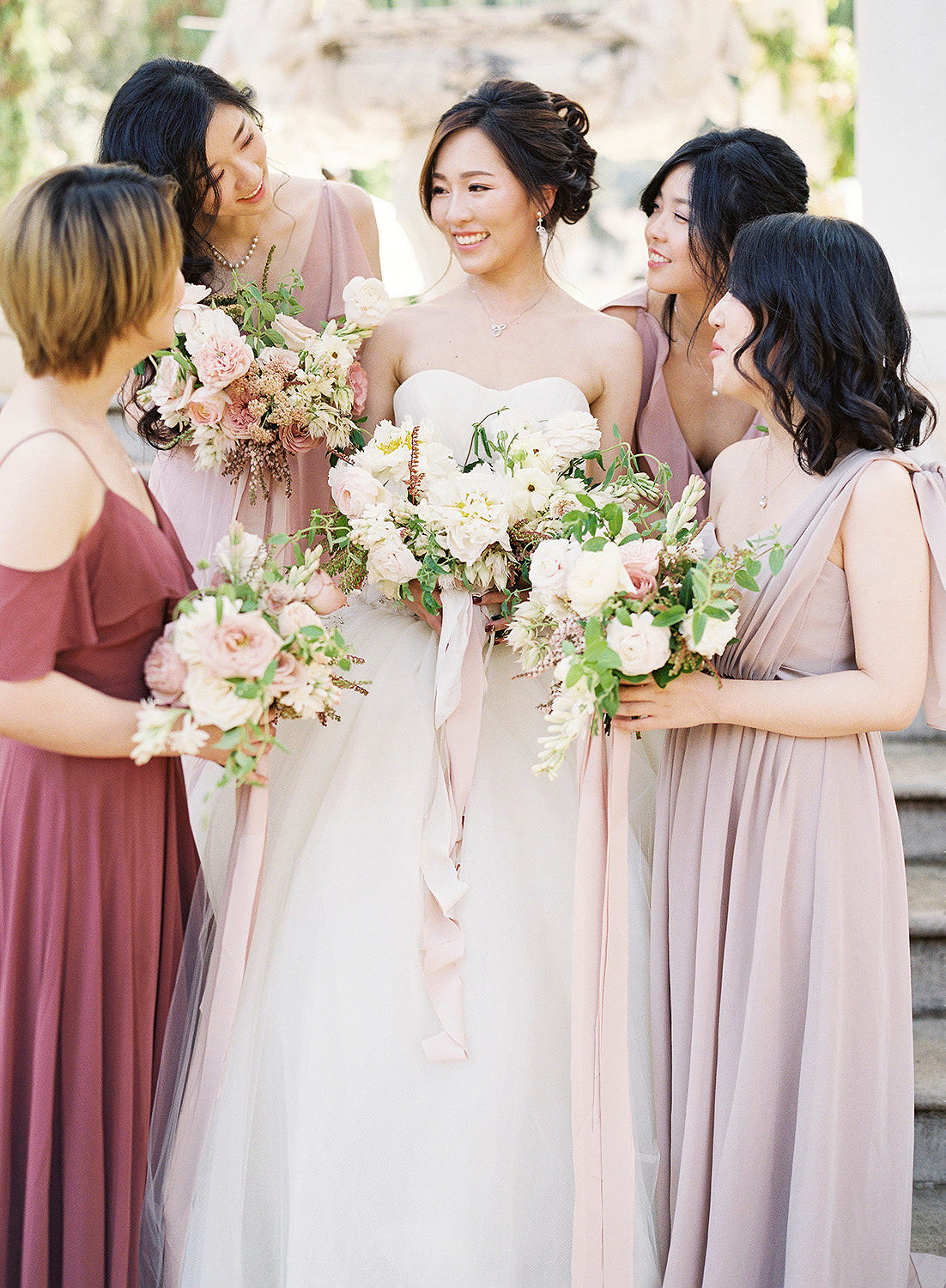 Beaming Bridesmaids