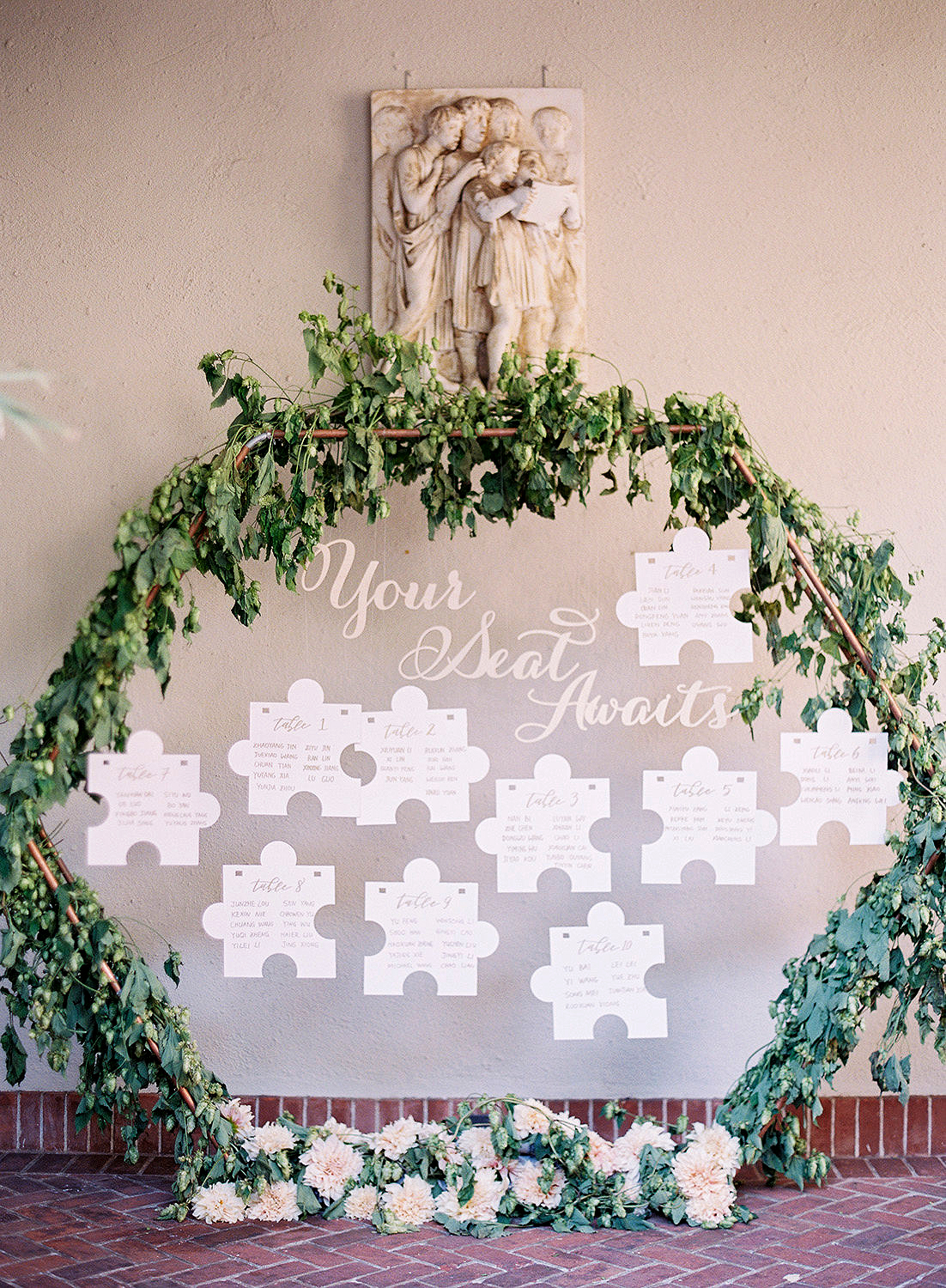 yiran yexiang wedding puzzle seating chart