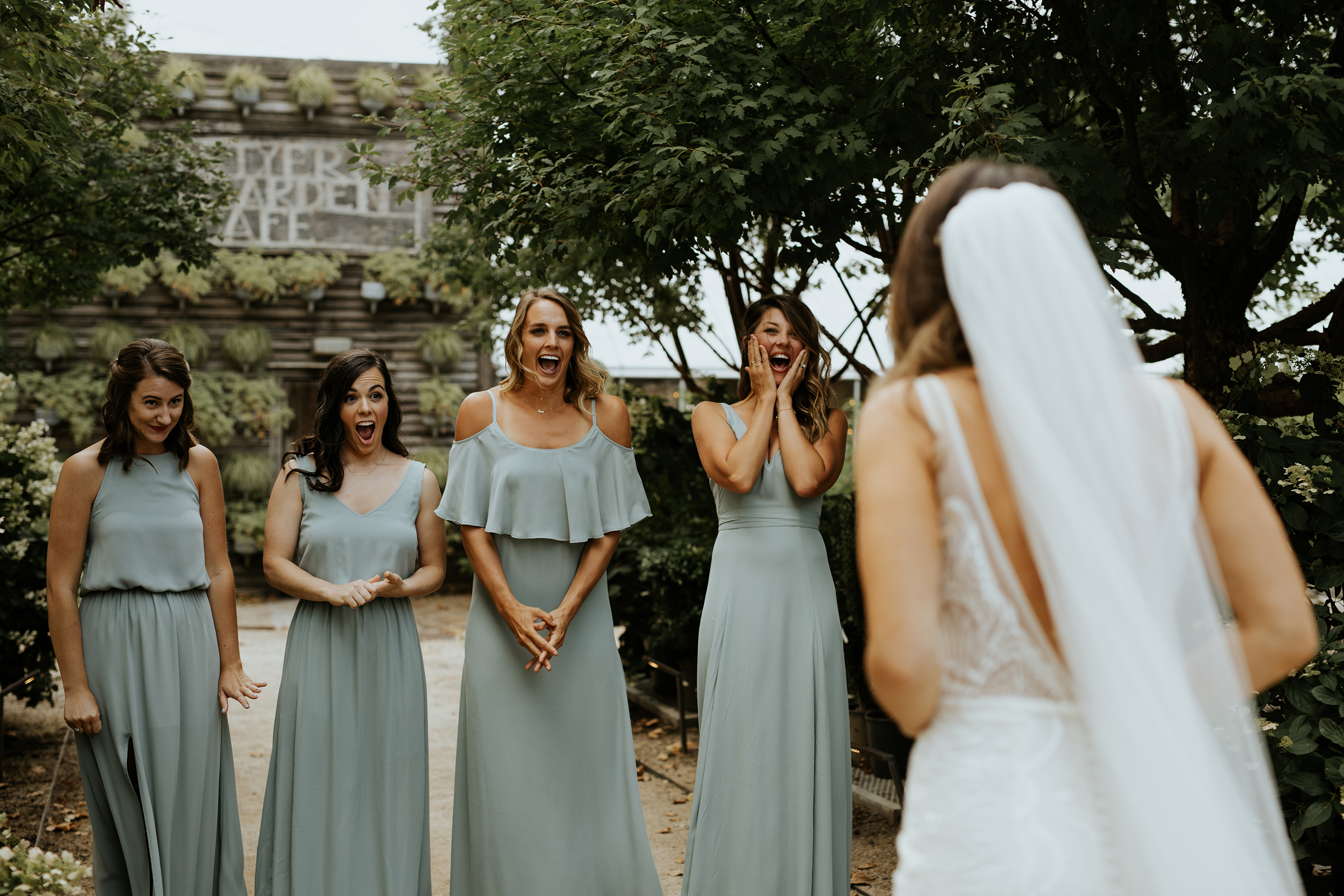 bridal party first look