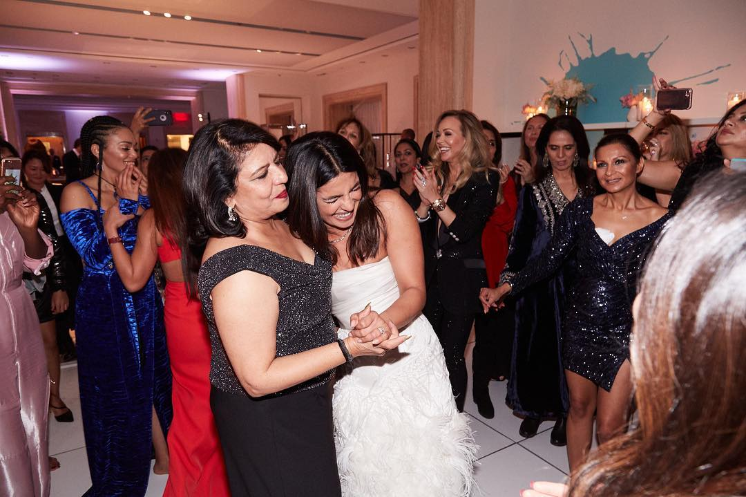 priyanka chopra and mother bridal shower
