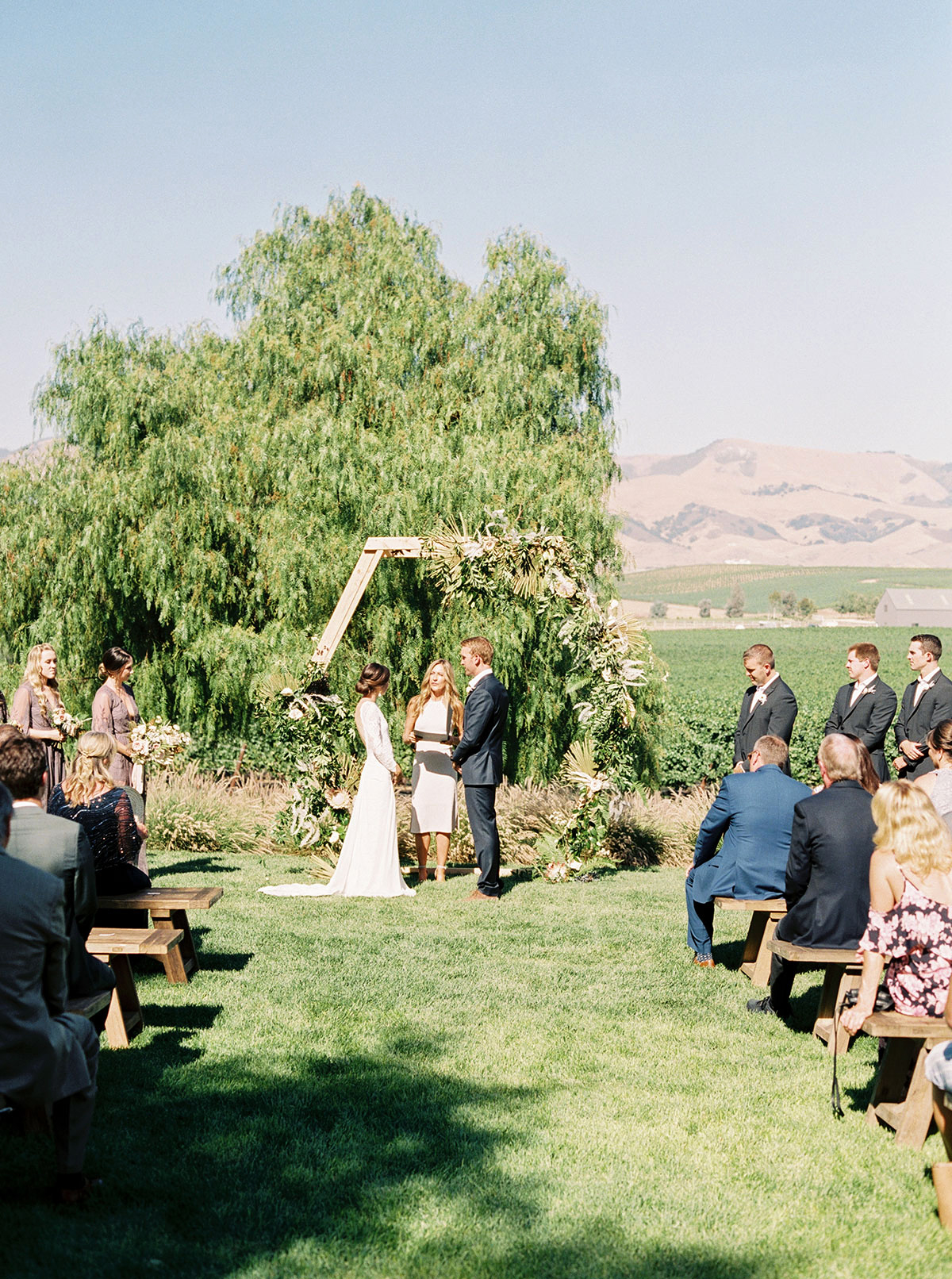 jena donny wedding outdoor ceremony couple