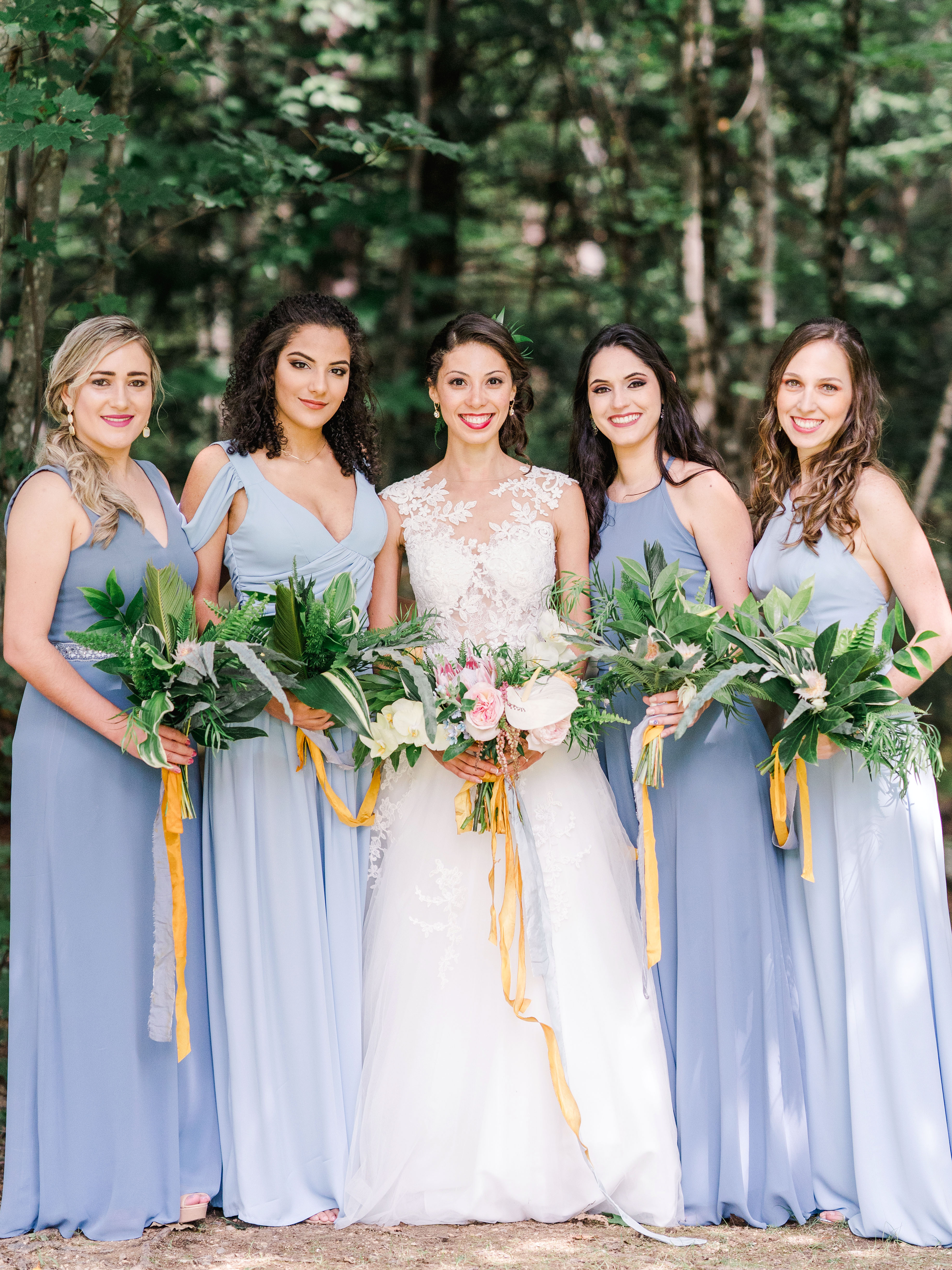 dayane collin wedding bride bridesmaids