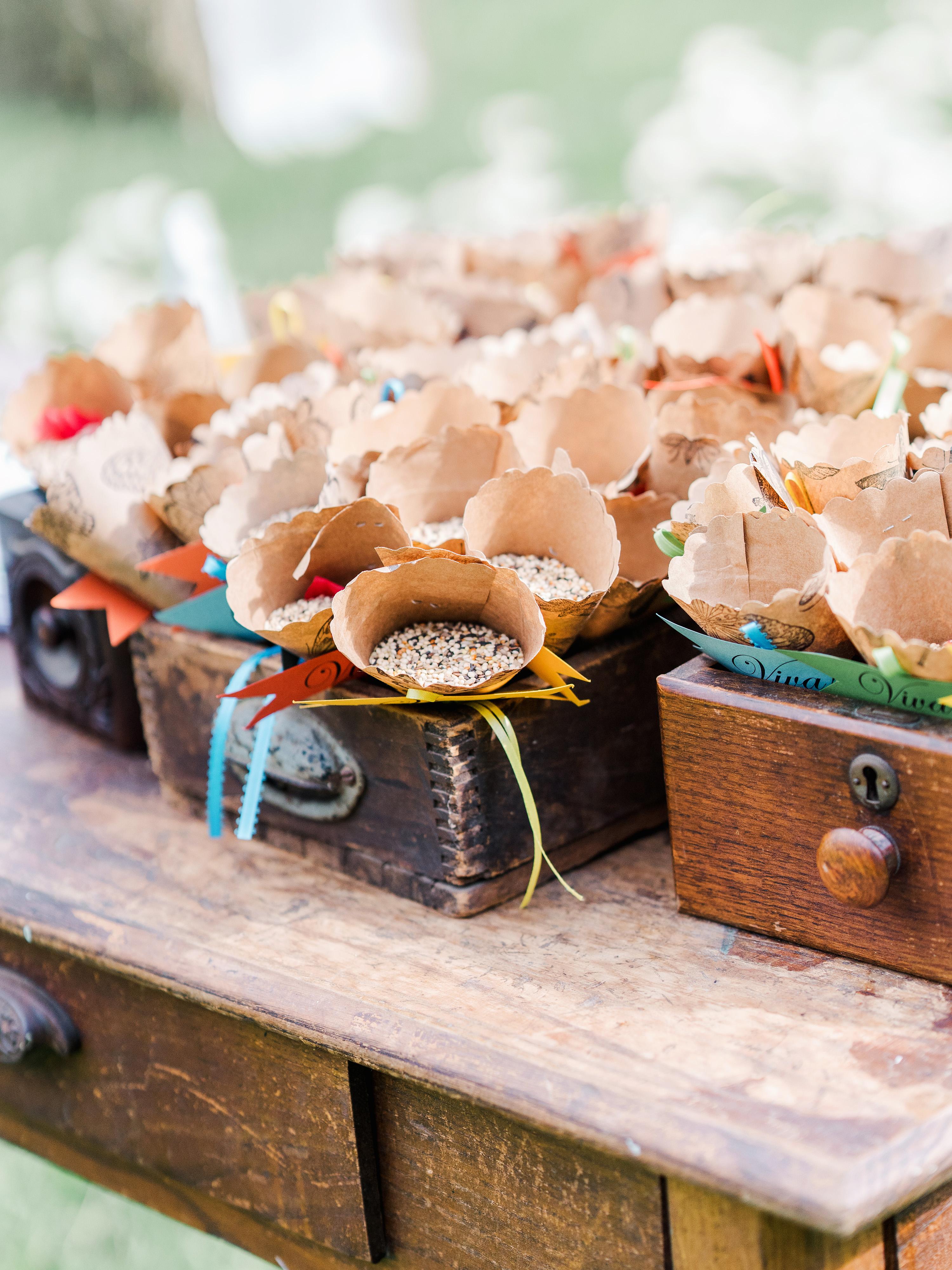 dayane collin wedding toss cones in drawers