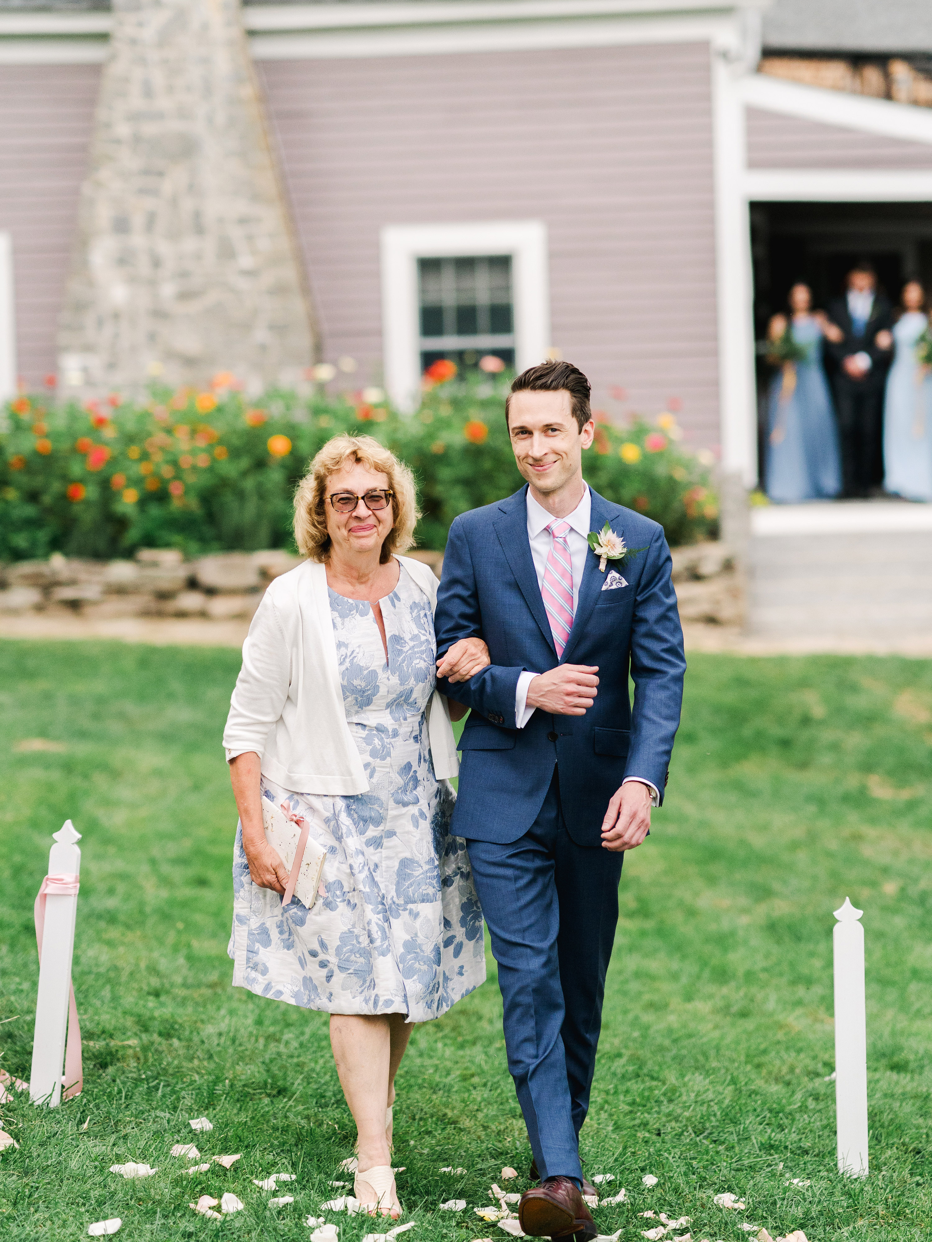 dayane collin wedding processional groom and mother
