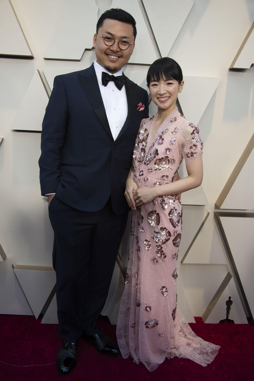 marie kondo and takumi kawahara oscars 2019