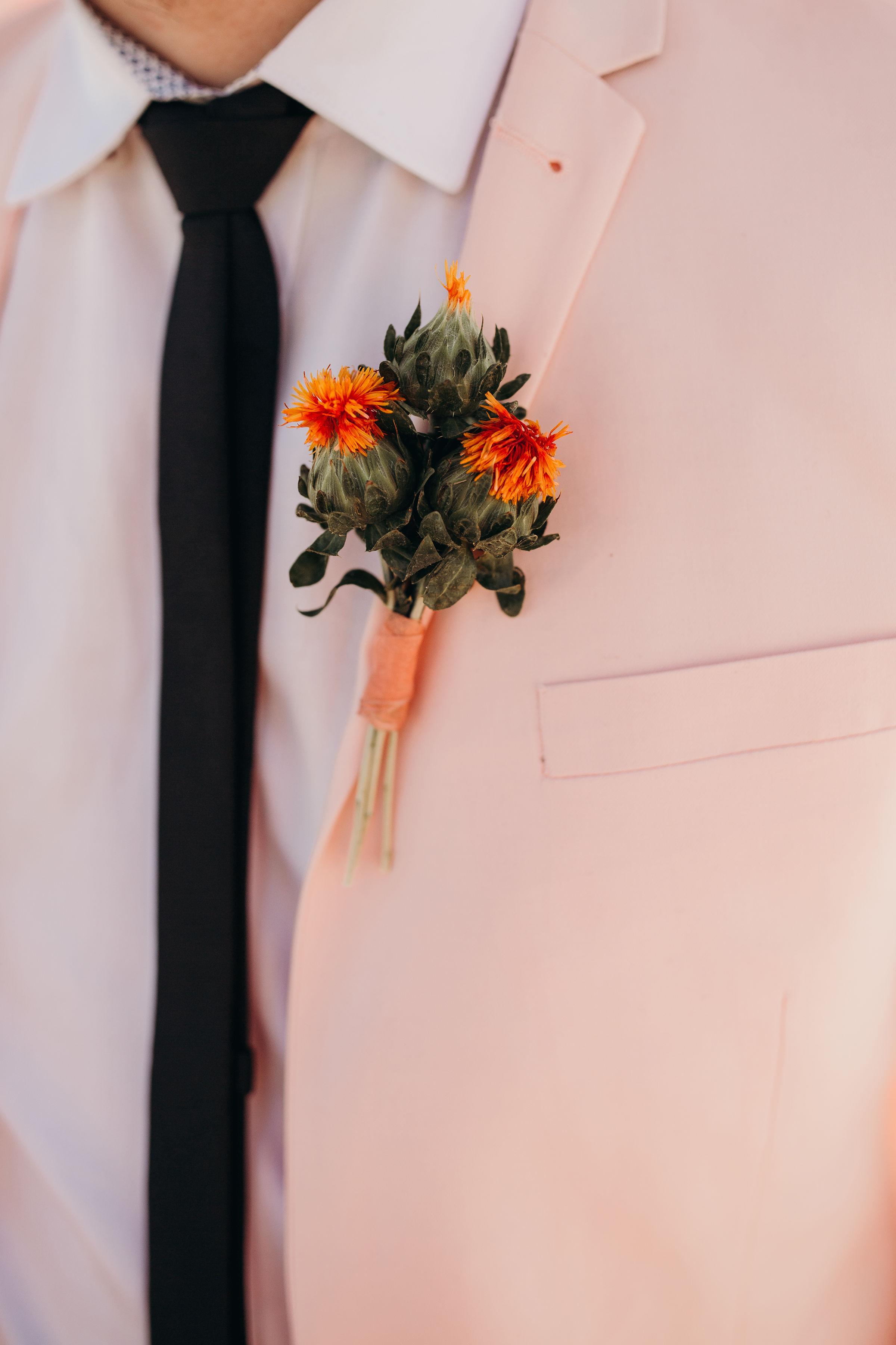 Desert Wedding Boutonniere