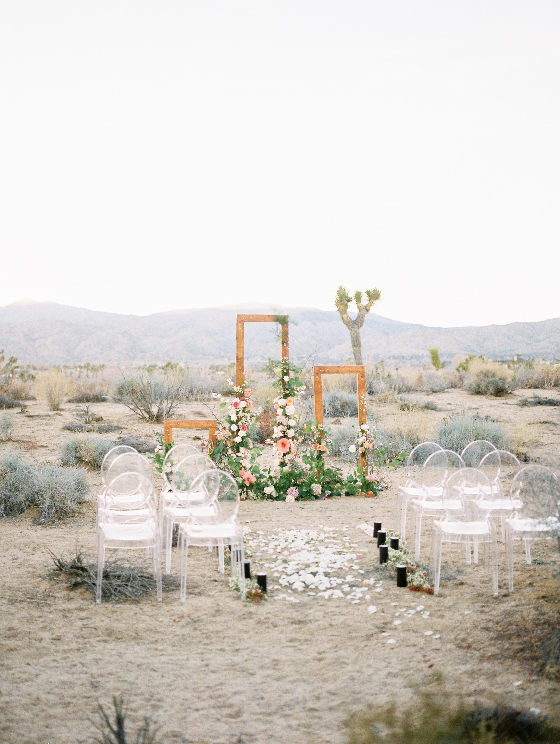 desert inspired wedding altar