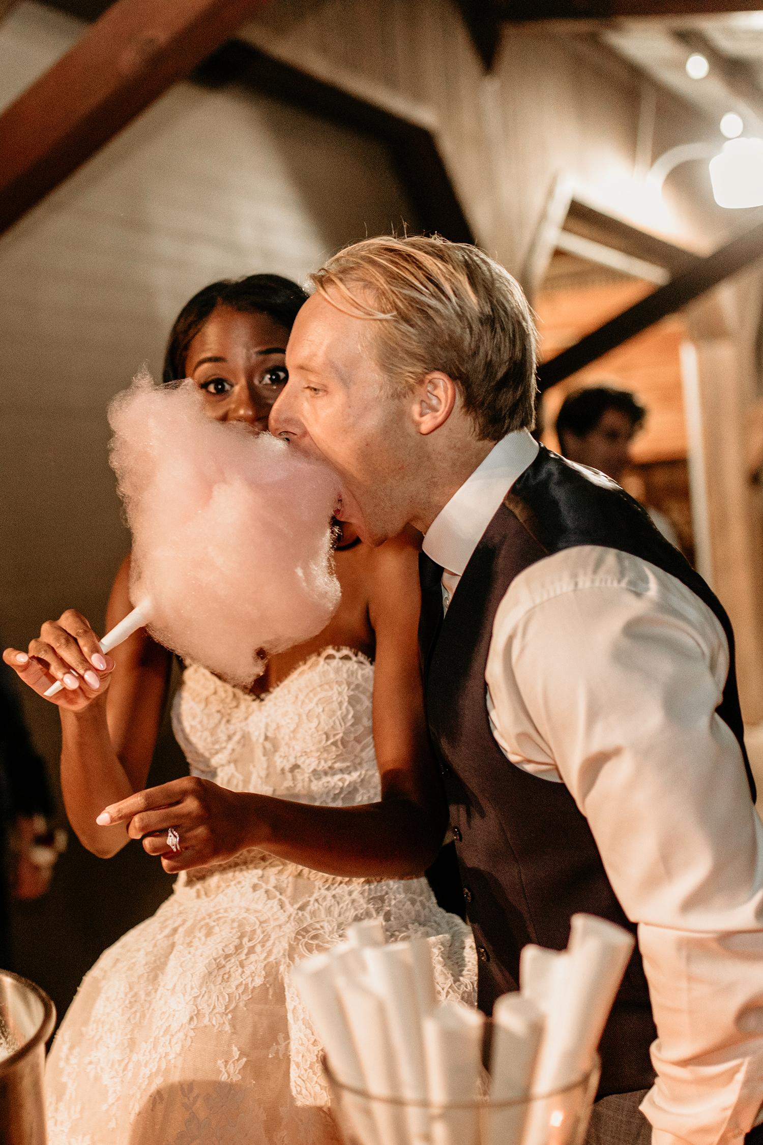 aerielle dyan wedding cotton candy