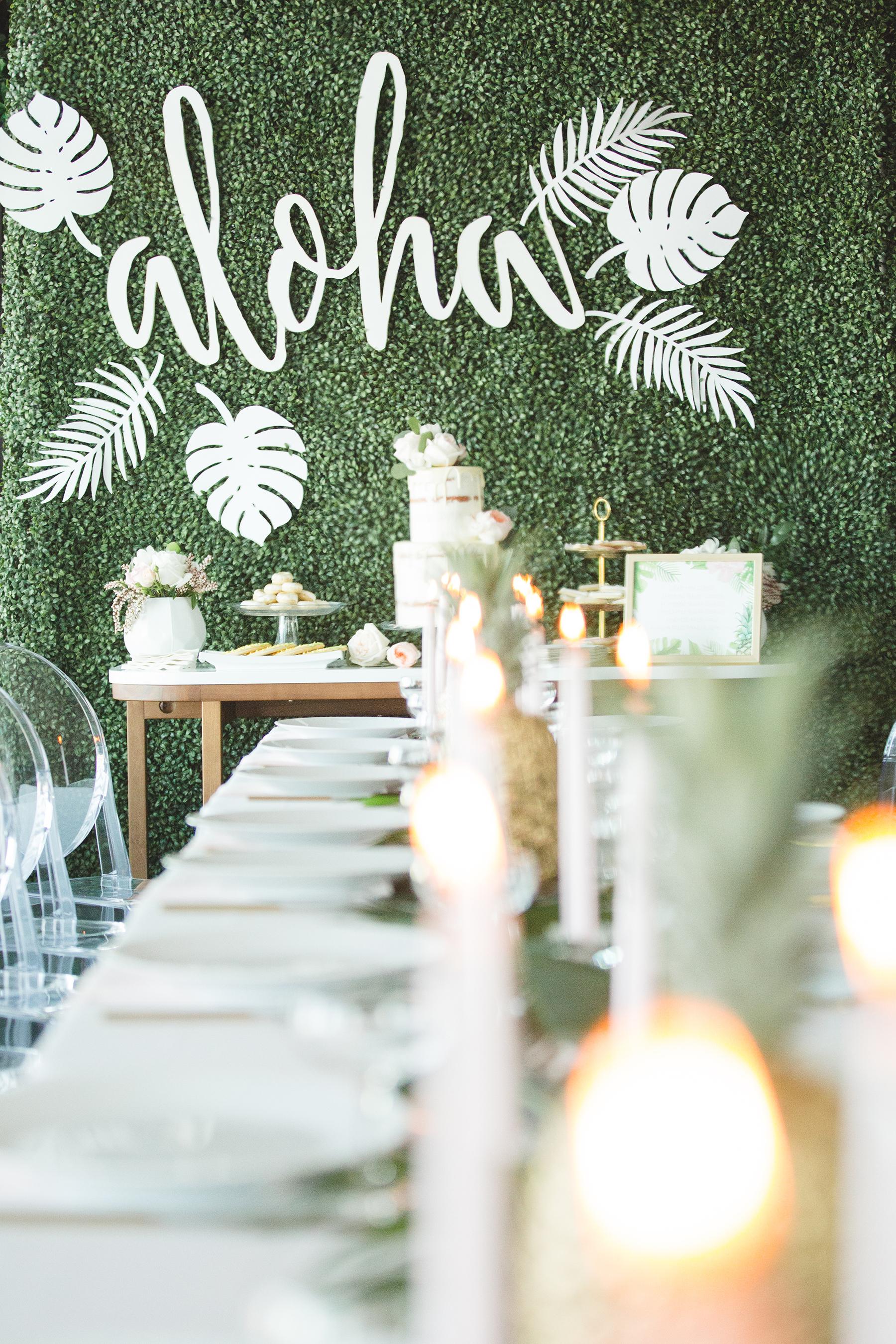 Aloha Wedding Backdrop