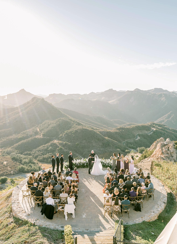 tillie dalton wedding ceremony with guests