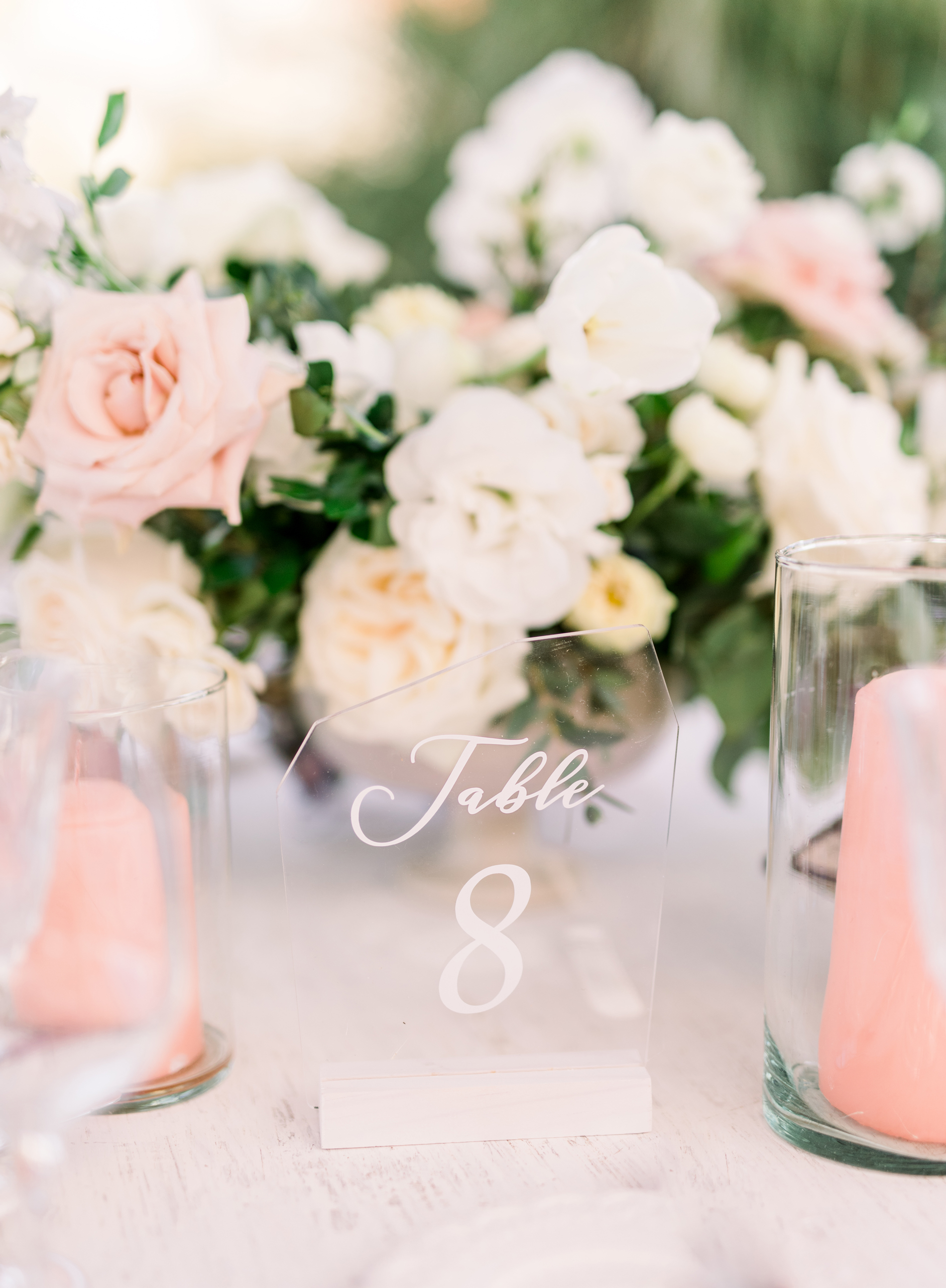 glass reception table numbers