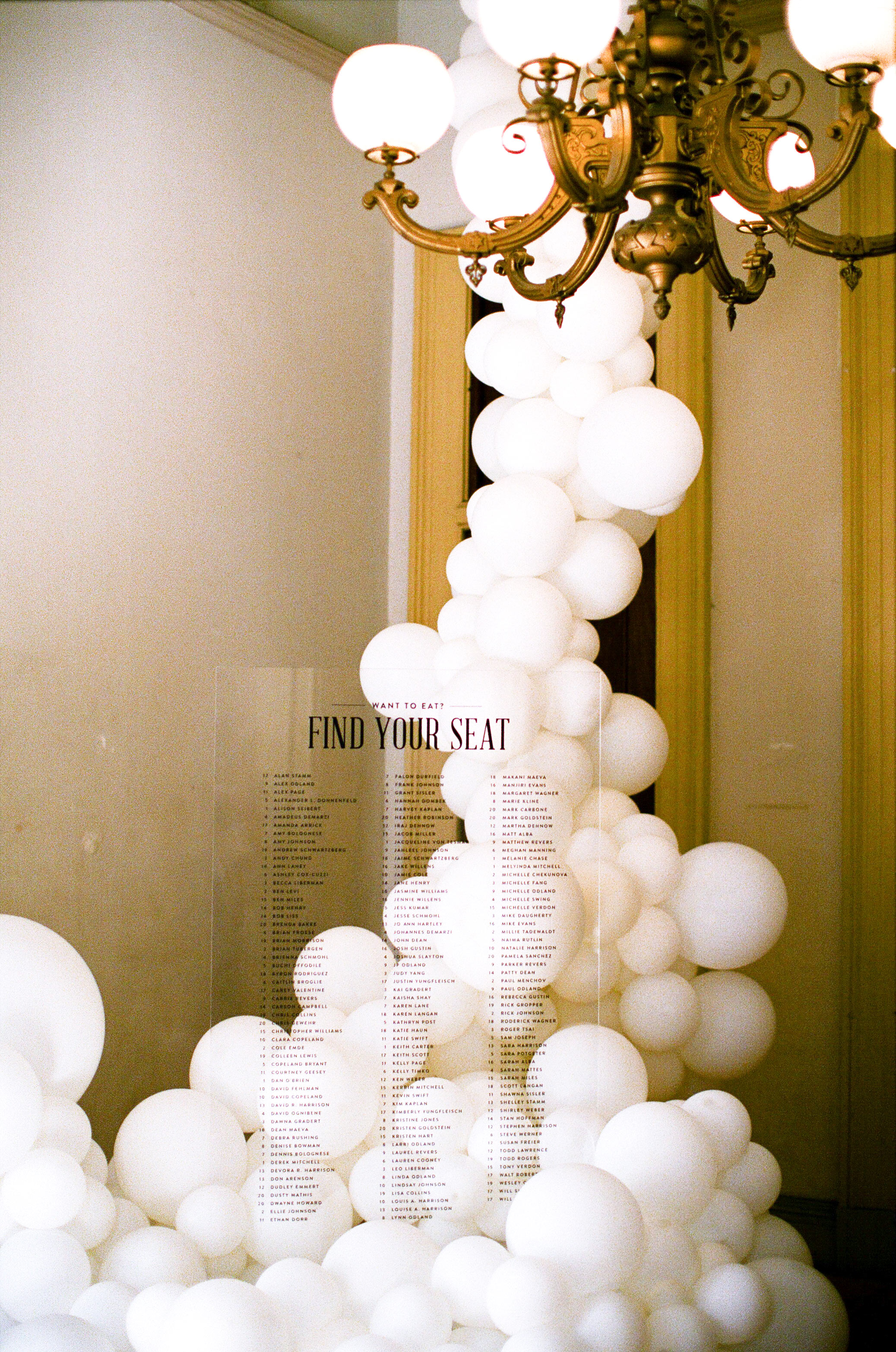 natalie louis wedding balloons seating chart