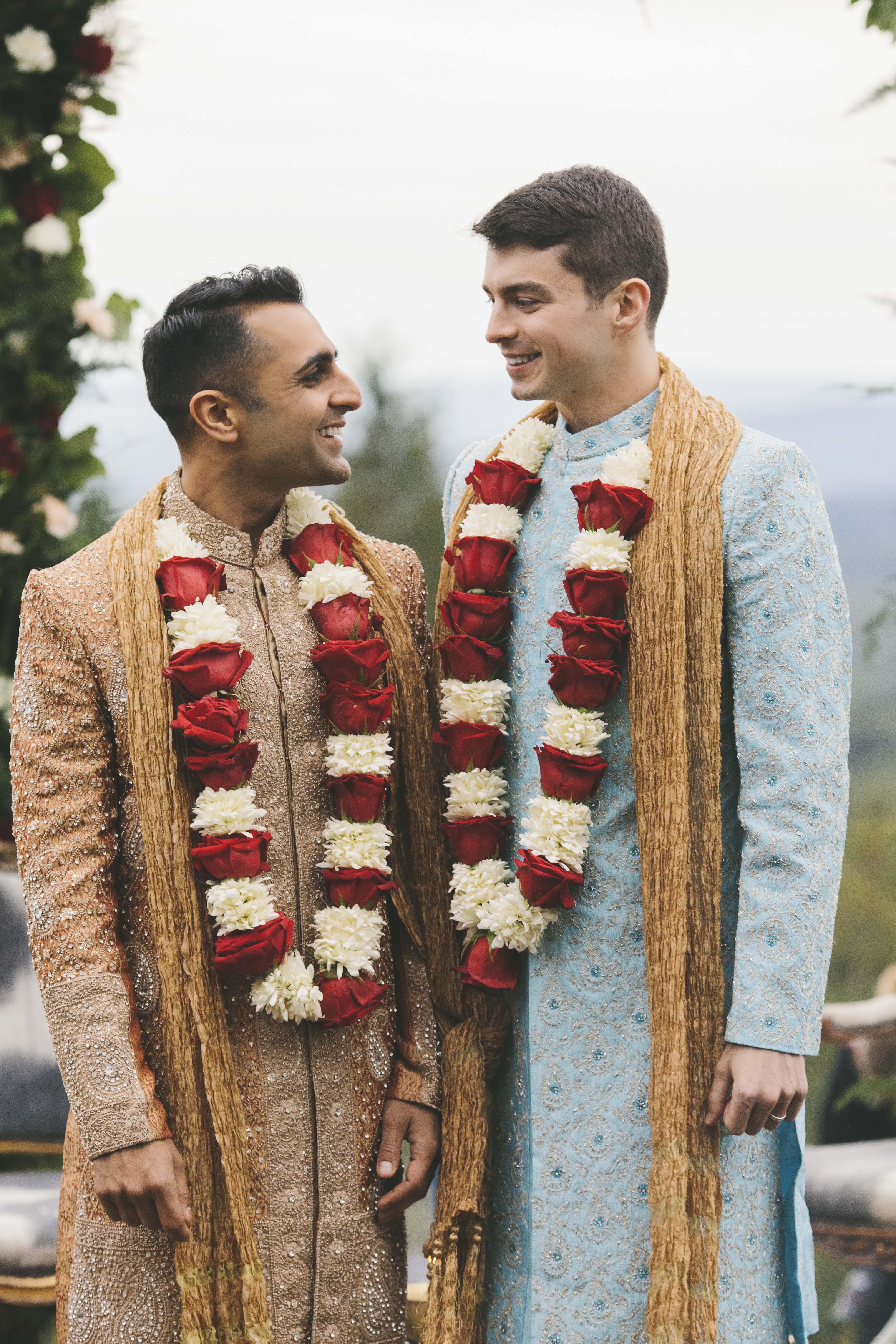 sanjay steven wedding grooms