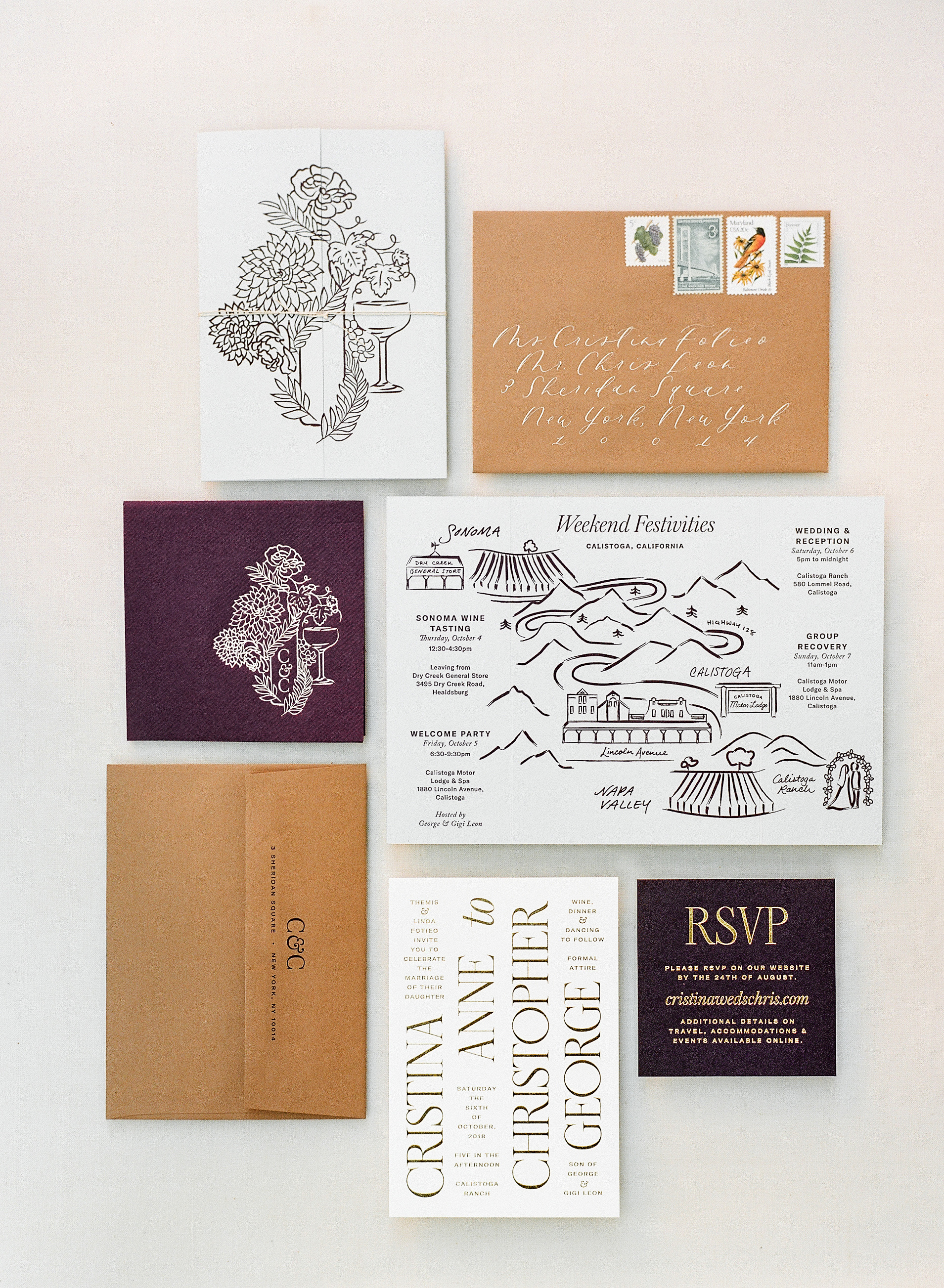 cristina chris wedding stationery suite