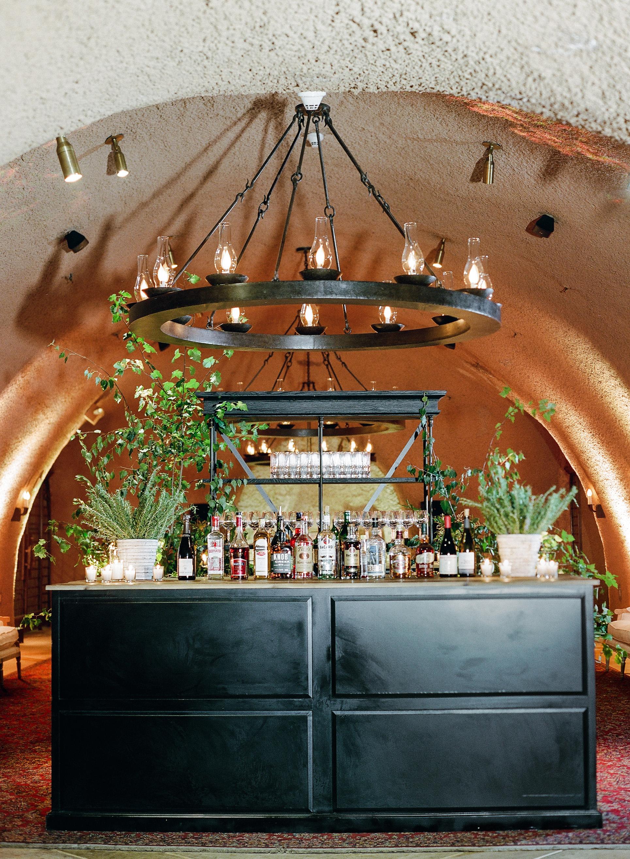 cristina chris wedding bar and chandelier