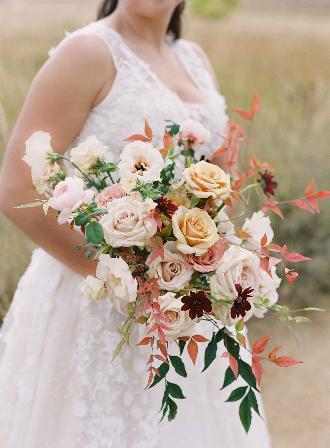autumn colored floral bouquet