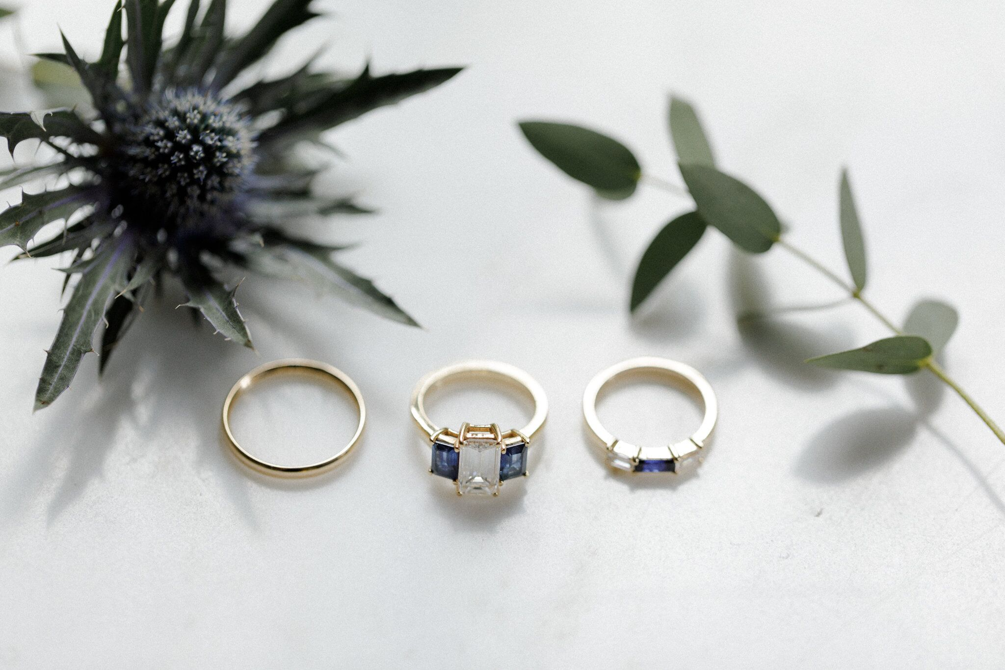 family custom designed wedding and engagement rings