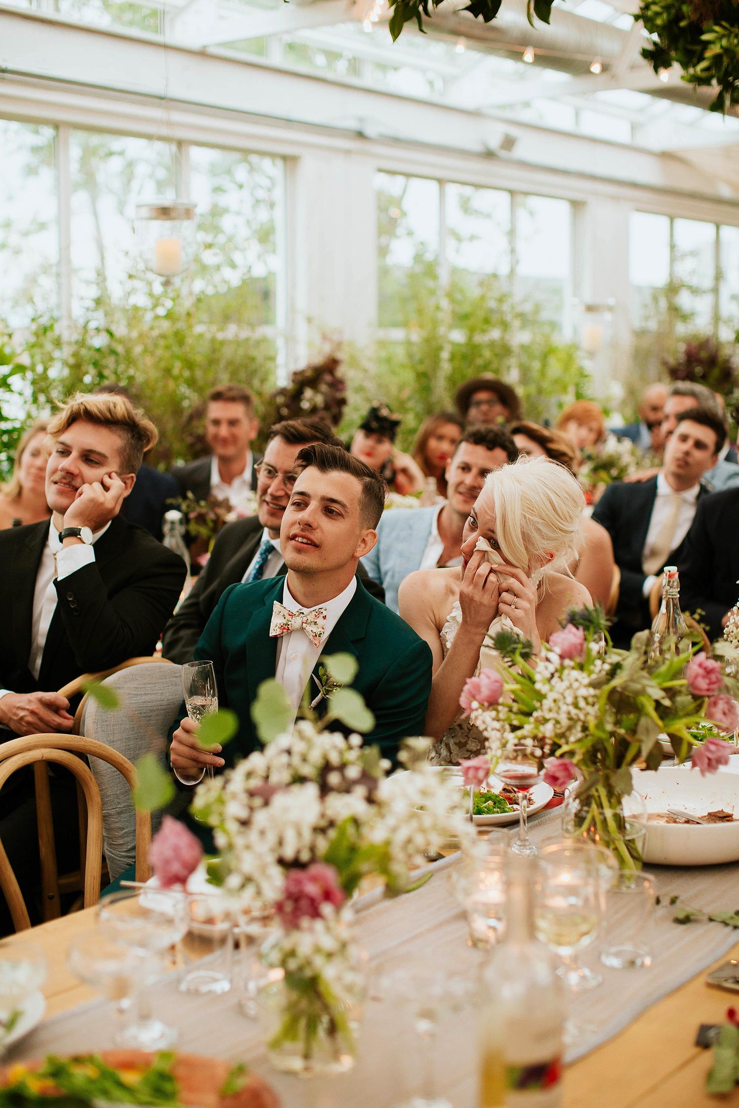 rose chris wedding speeches bride and groom