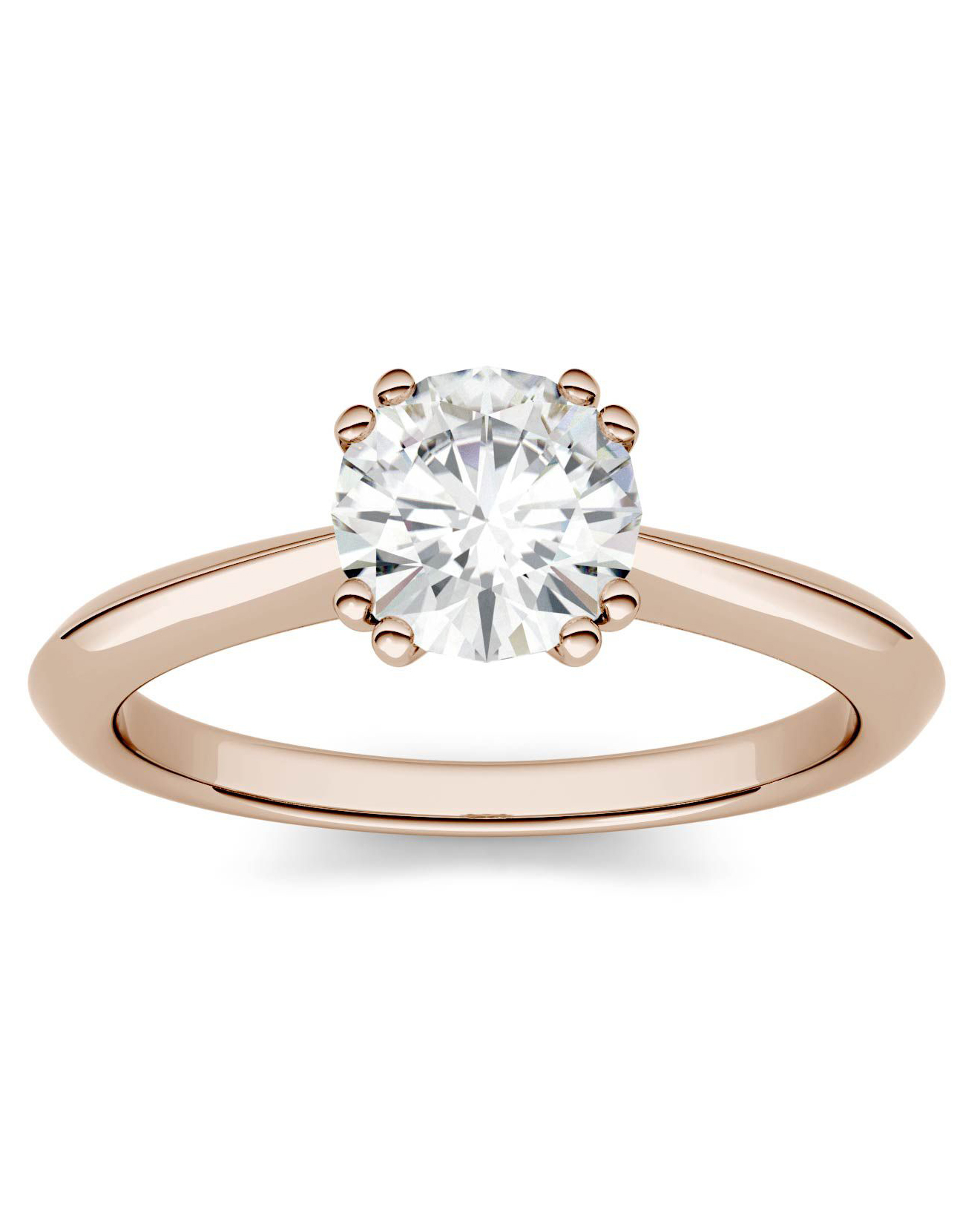 Charles & Colvard Forever One Moissanite Solitare Engagement Ring