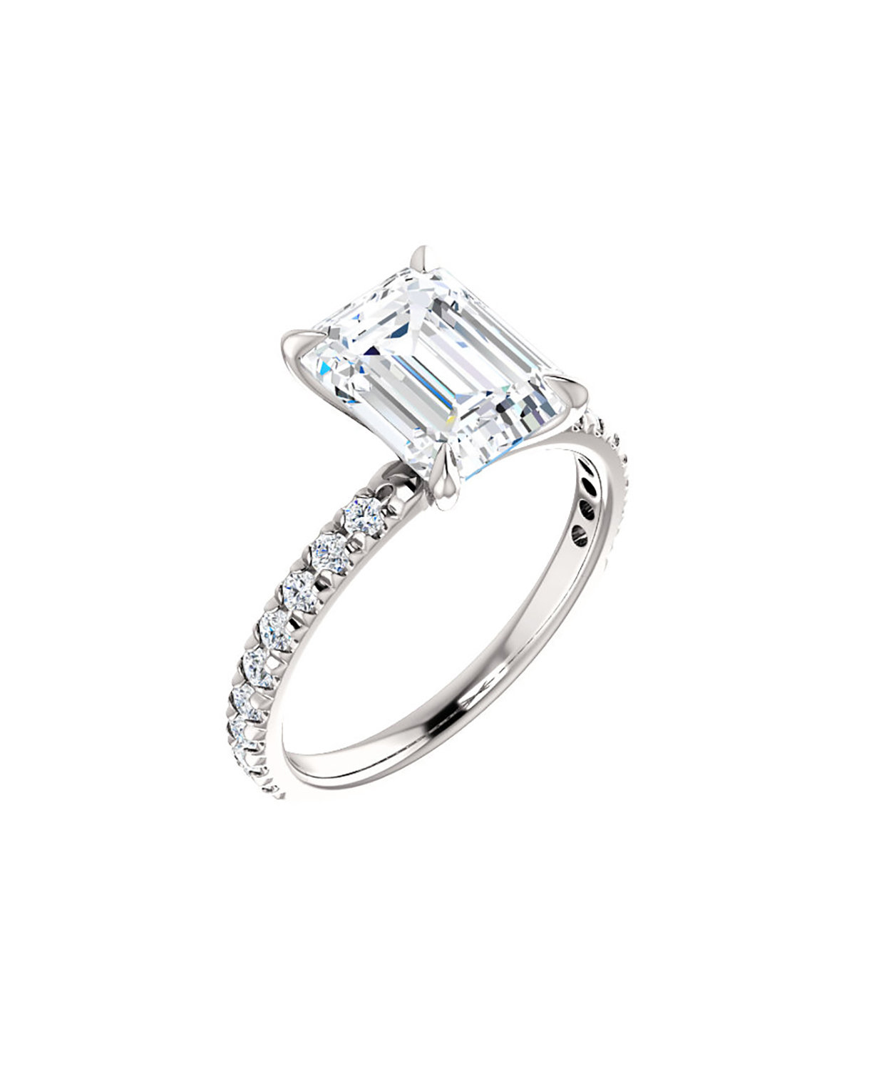 Golden Lilo Moissanite Engagement Ring