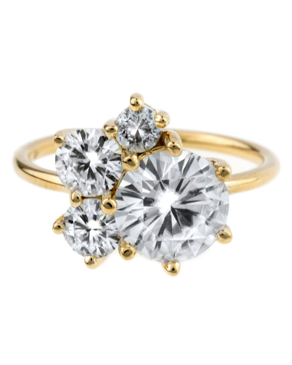 Bario Neal Custom Moissanite Cluster Ring