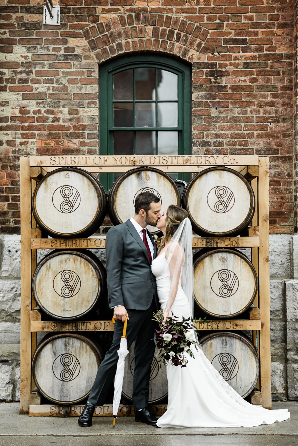 One Couple S Industrial Wedding In Toronto S Distillery District