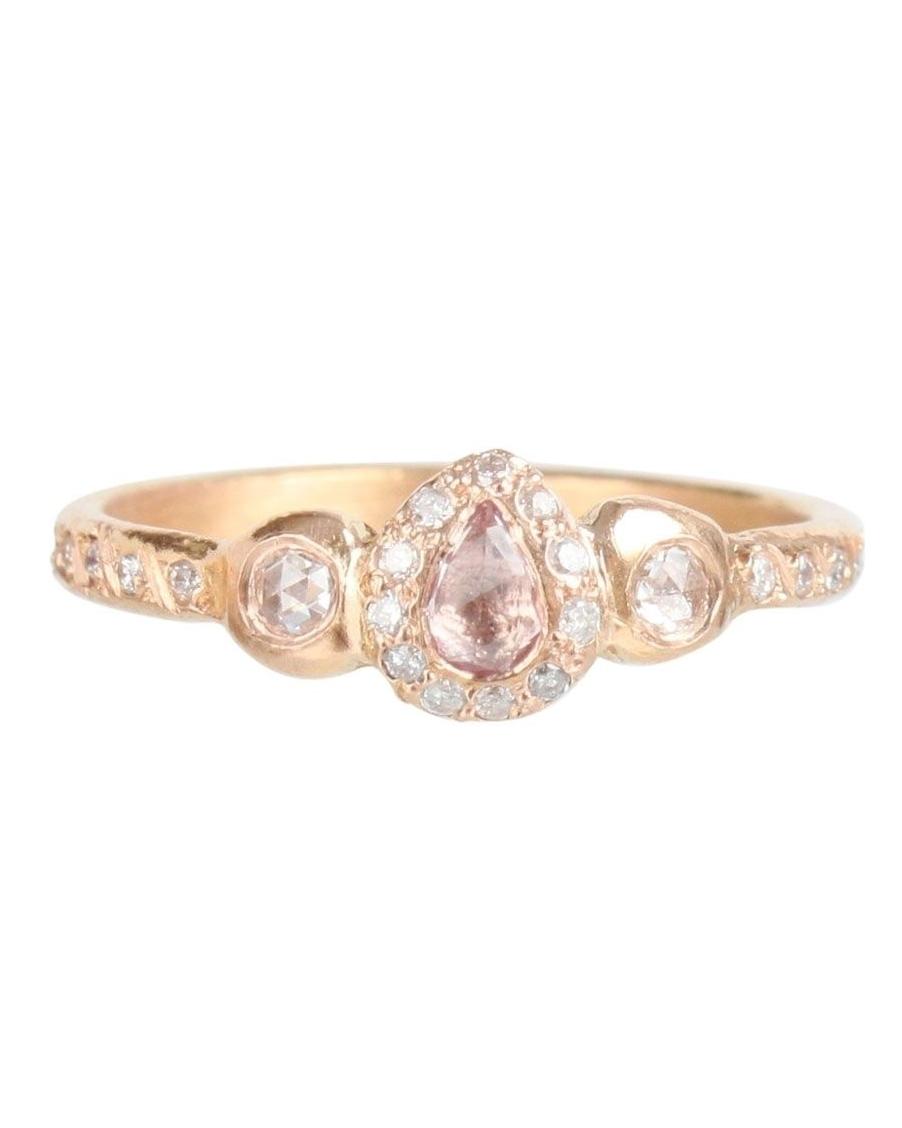 "Elisa Solomon ""Pavlova"" Pink Sapphire Ring"
