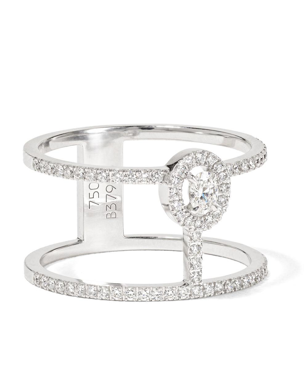 "Messika ""Glam'Azone"" 18-Karat White Gold Diamond Ring"