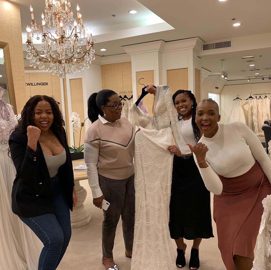 oprah winfrey and students buy wedding dress