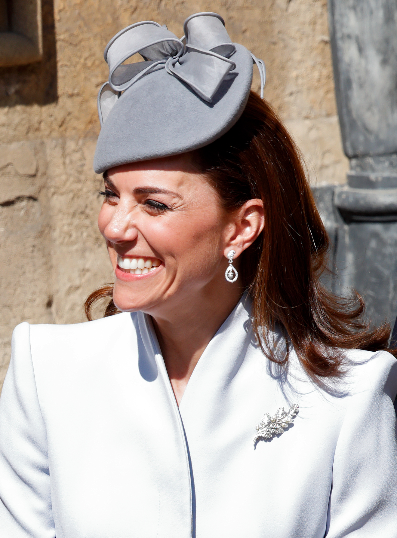 kate middleton wearing her wedding earrings