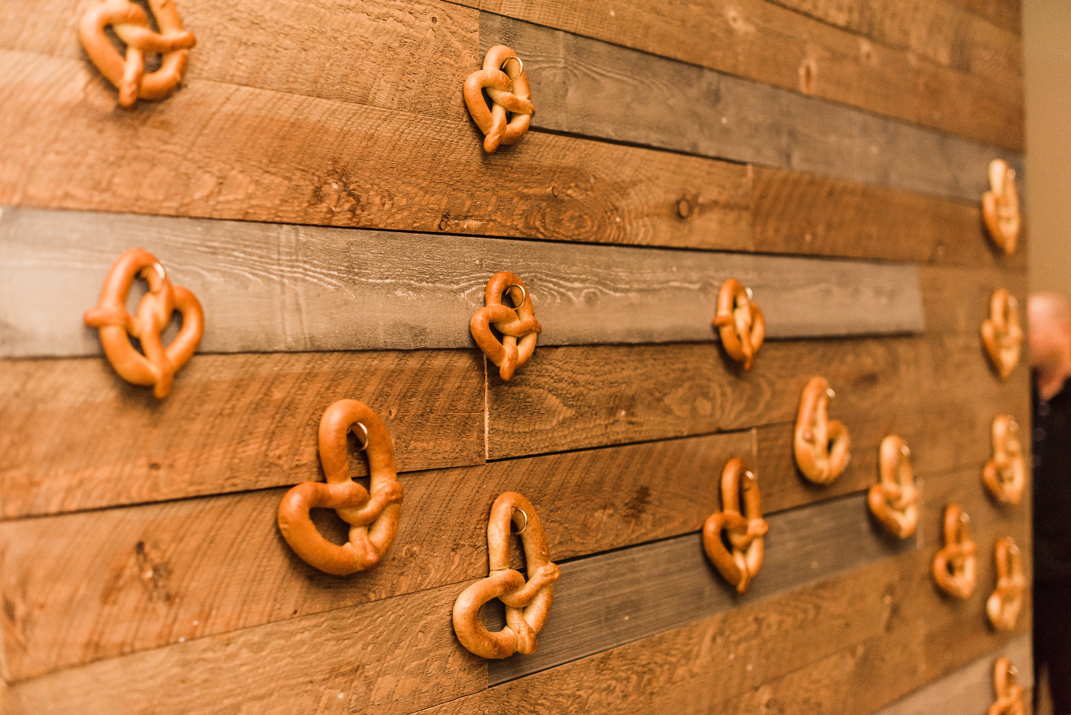 pretzel food wall