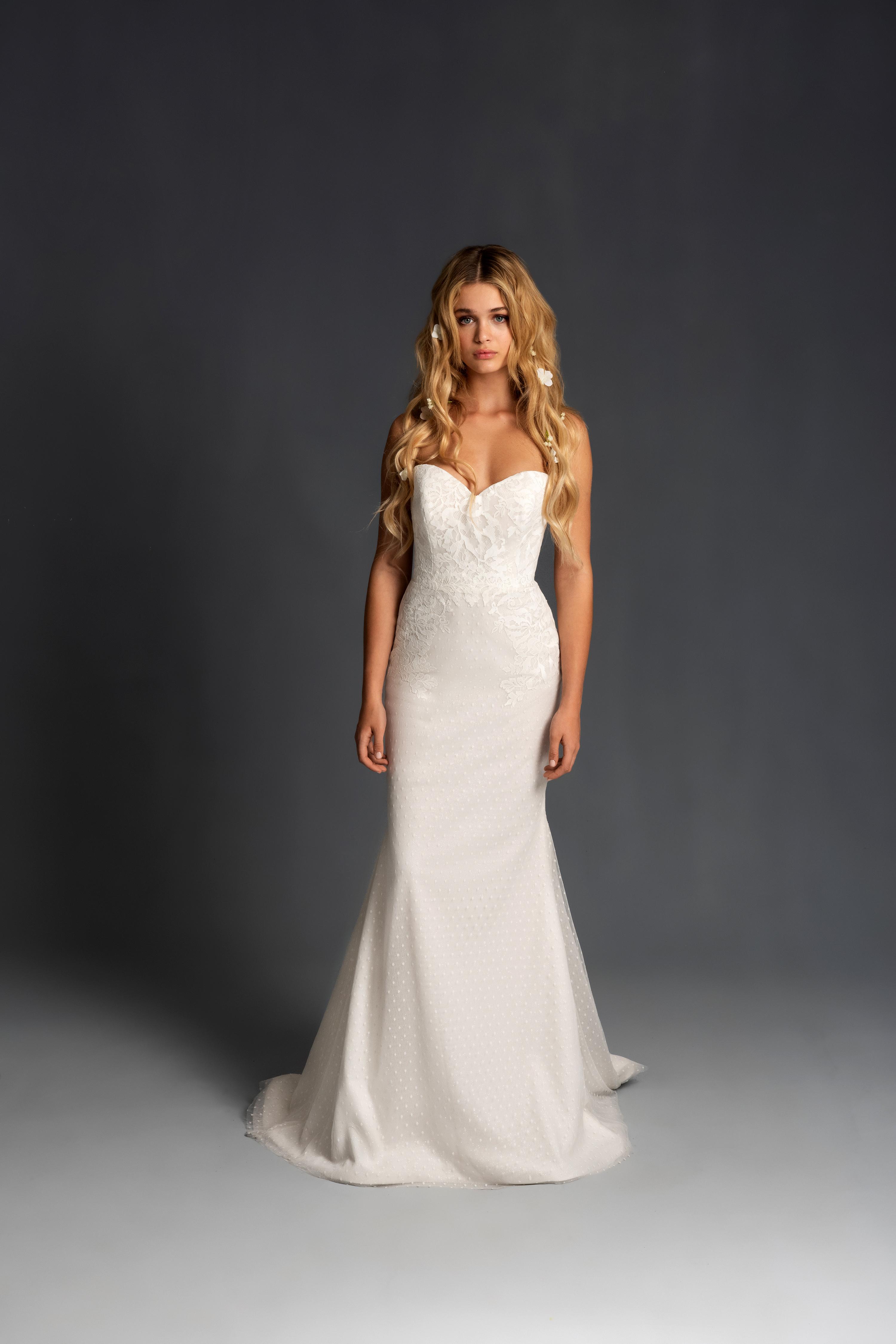 blush hayley paige sweetheart strapless trumpet wedding dress spring 2020